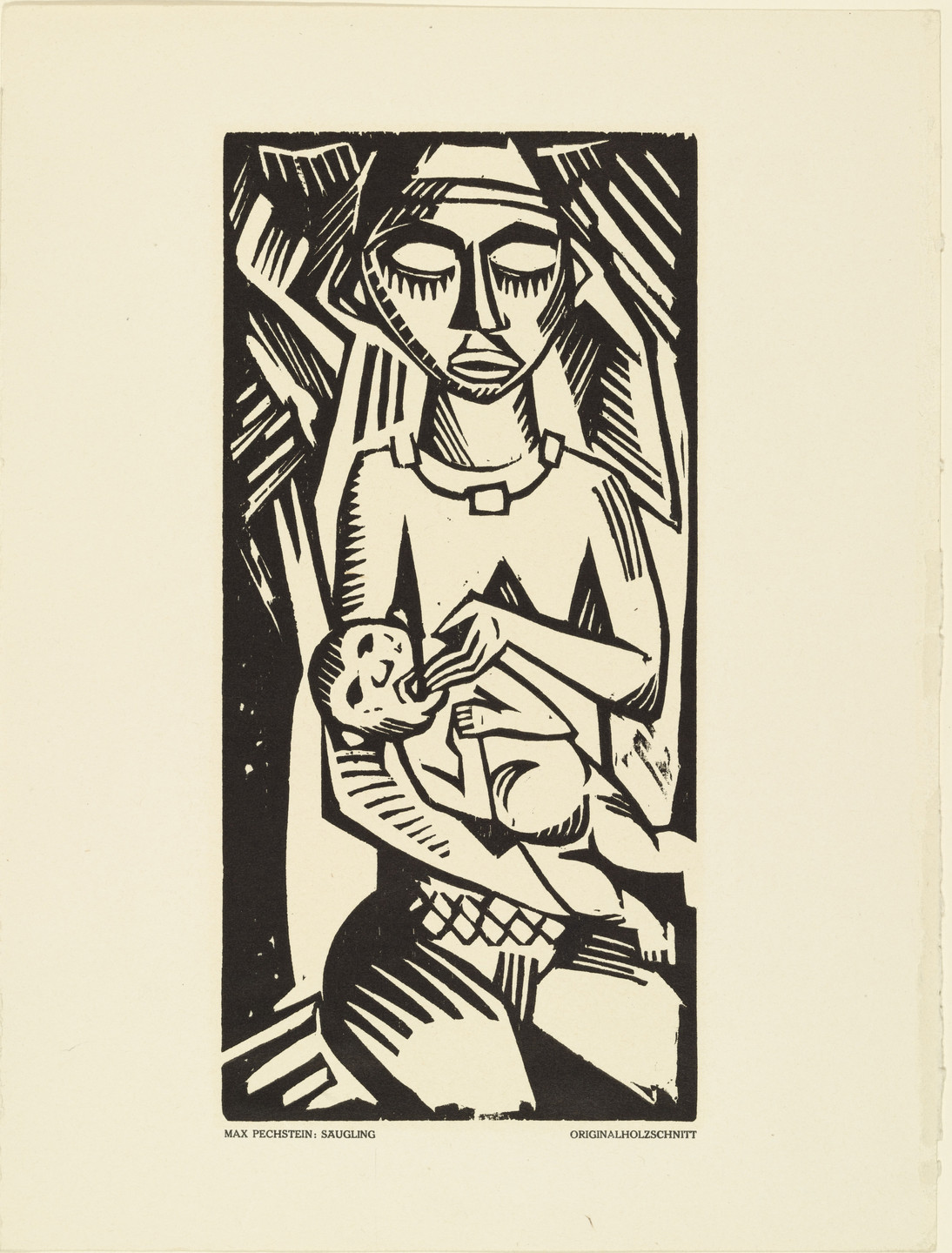 Max Pechstein. Infant (Säugling) (plate, preceding p. 161) from the periodical Das Kunstblatt, vol. 2, no. 6 (Jun 1918). 1918 (executed 1917)