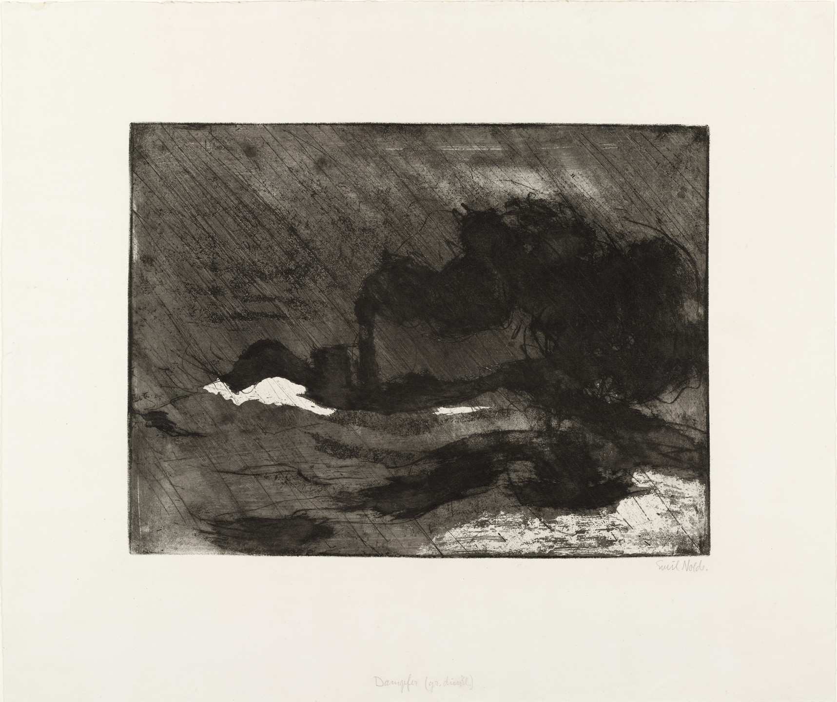 Emil Nolde. Steamer (large, dark) (Dampfer [gr. dkl.]). 1910