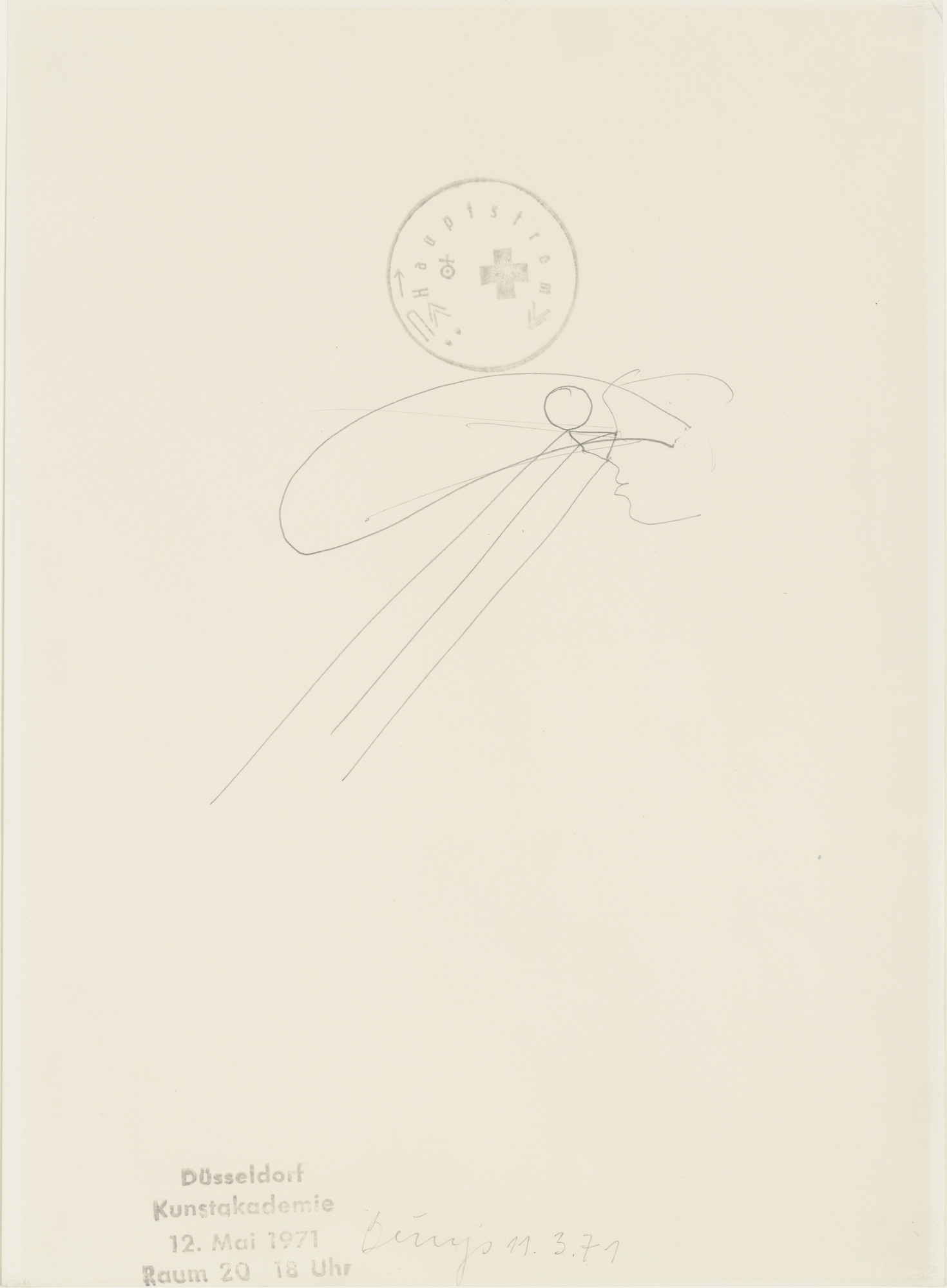 Joseph Beuys. Head with Ray-Shaped Protrusions (Kopf mit strahlenförmigen Ausformungen). 1971