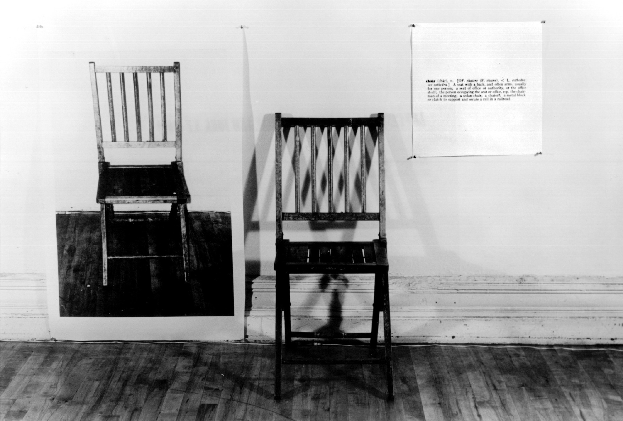 Joseph Kosuth. One and Three Chairs. 1965