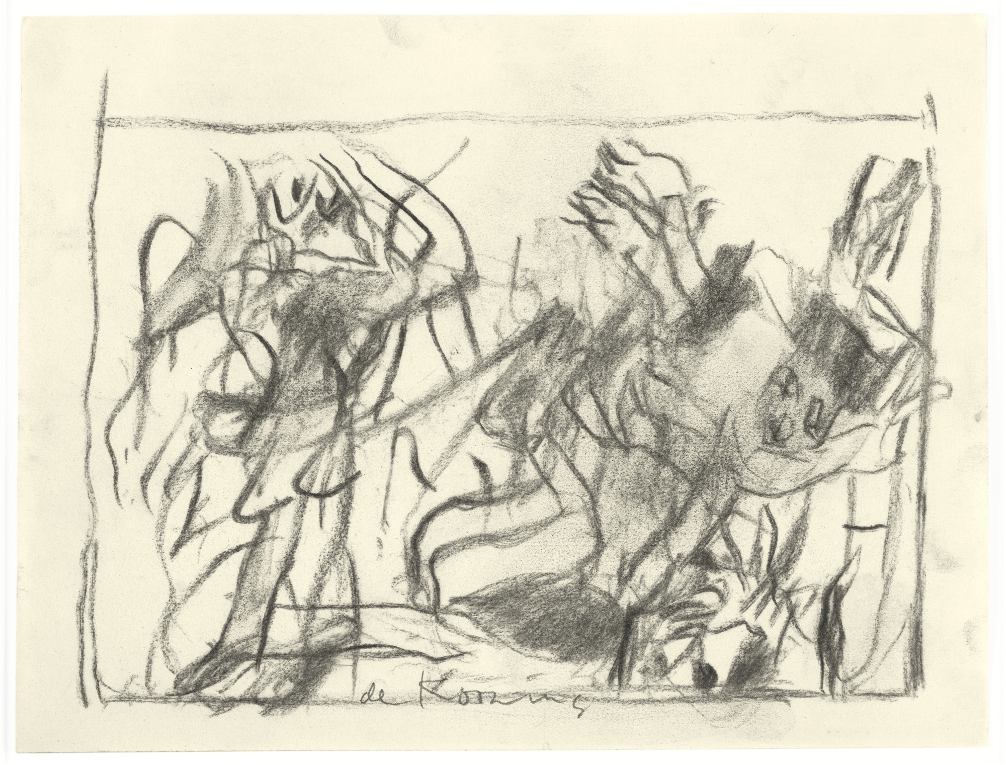 Willem de Kooning. Untitled. (c. 1975-1980)