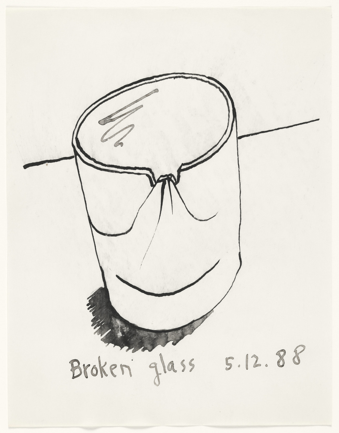 Ray Johnson. Untitled (Broken Glass). 1988