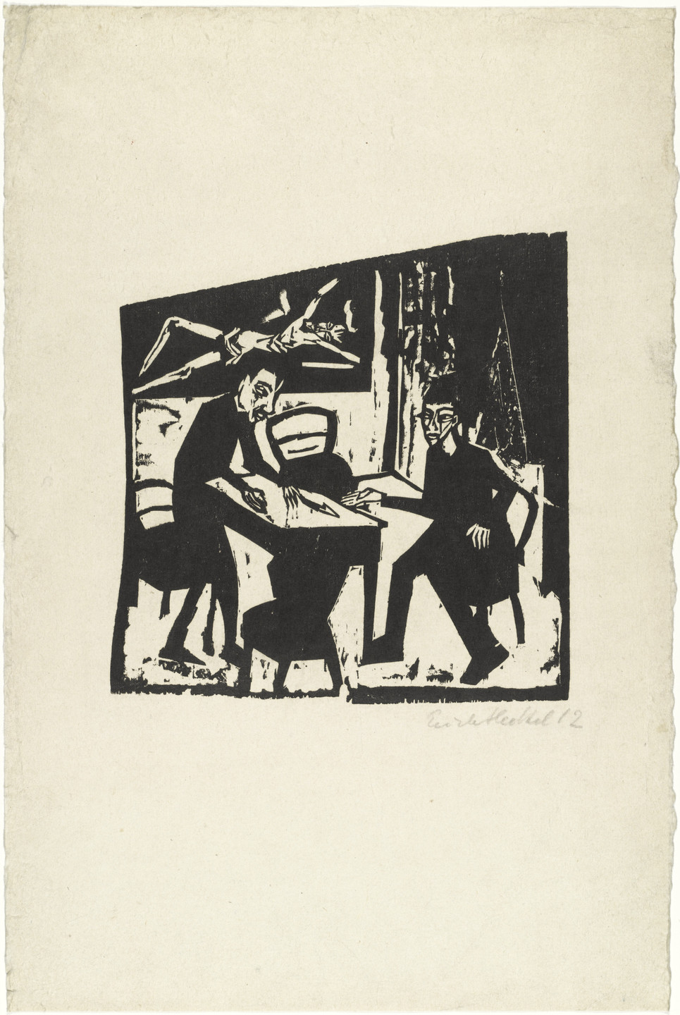 Erich Heckel. Adversaries (Gegner). 1912