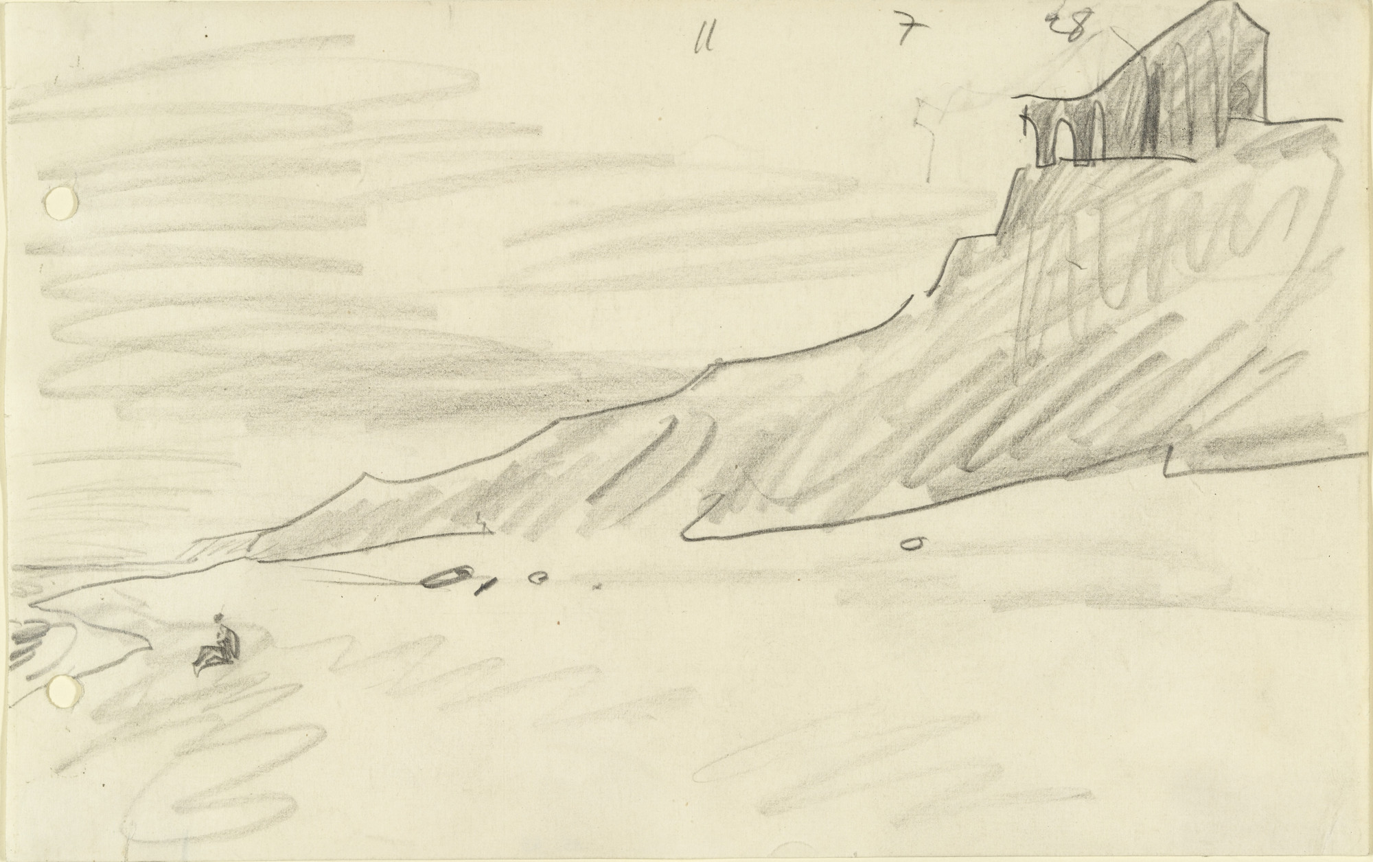 Lyonel Feininger. Cliffs and Sea with Ruins. 1928