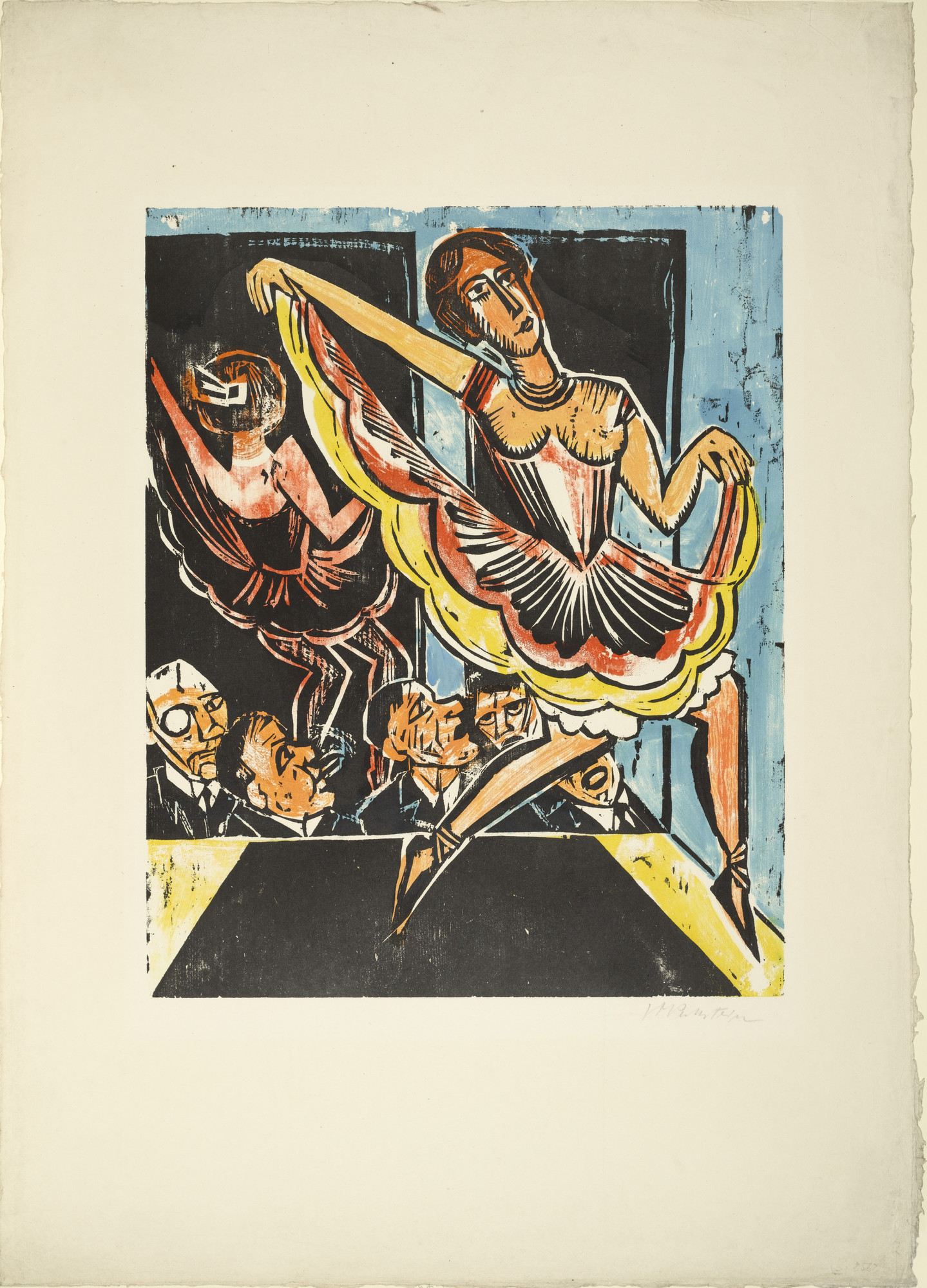 Max Pechstein. Dancer in the Mirror (Tänzerin im Spiegel). (1923)