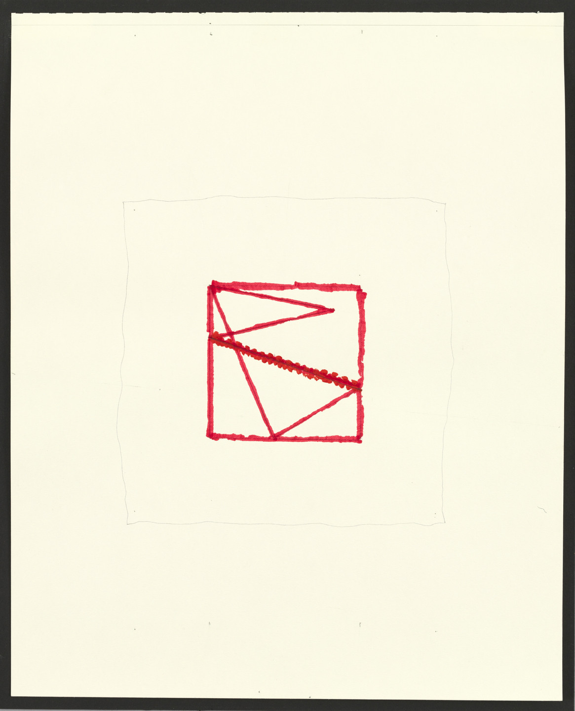 Richard Tuttle. Blue/Red, Phase: Drawings #4. (2002)