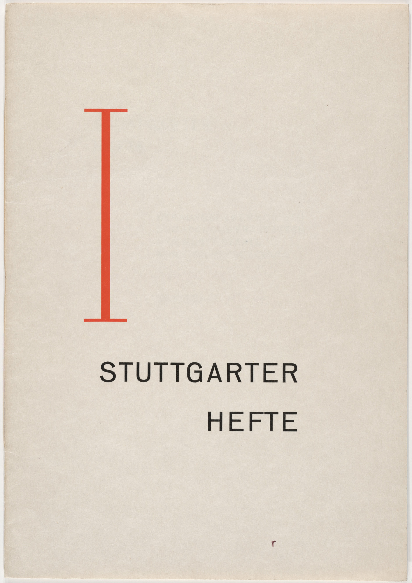 Unknown Artist. Stuttgarter Hefte I. 1926