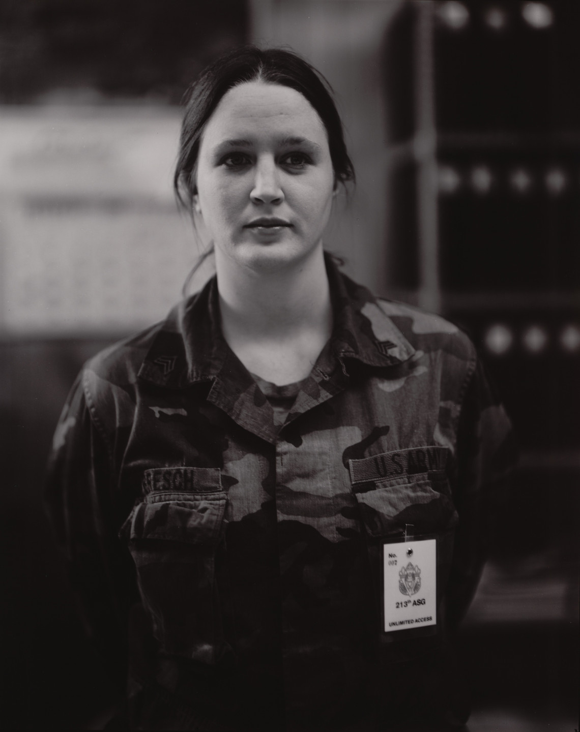 Judith Joy Ross. Karen J. Bresch, Full-Time Administrator of 3622 Maintenance Co., Assisting in Mobilization of Natl. Guard Unit 3622 for Operation Desert Shield. 1990