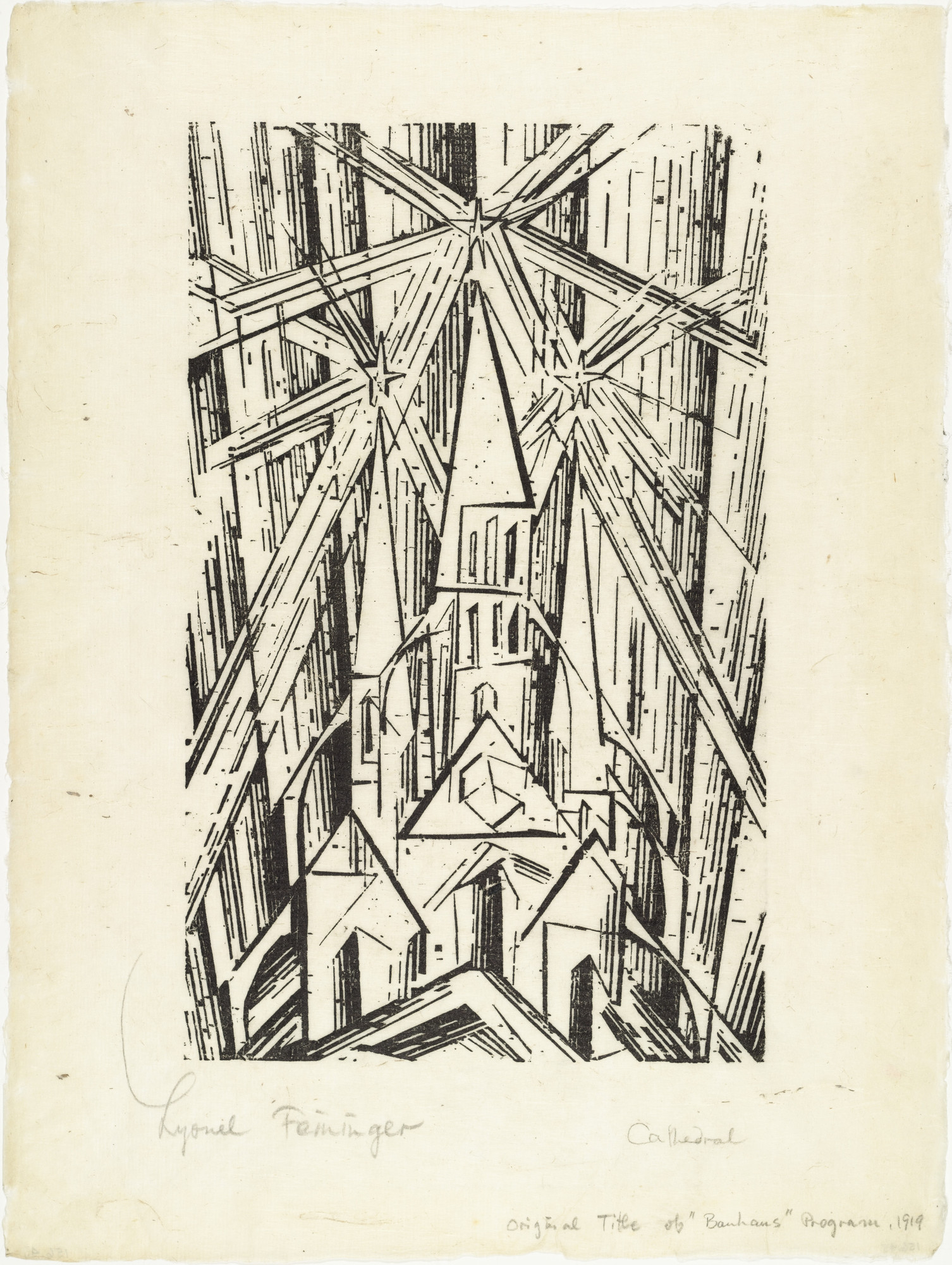 Lyonel Feininger. Cathedral (Kathedrale) for Program of the State Bauhaus in Weimar (Programm des Staatlichen Bauhauses in Weimar). 1919