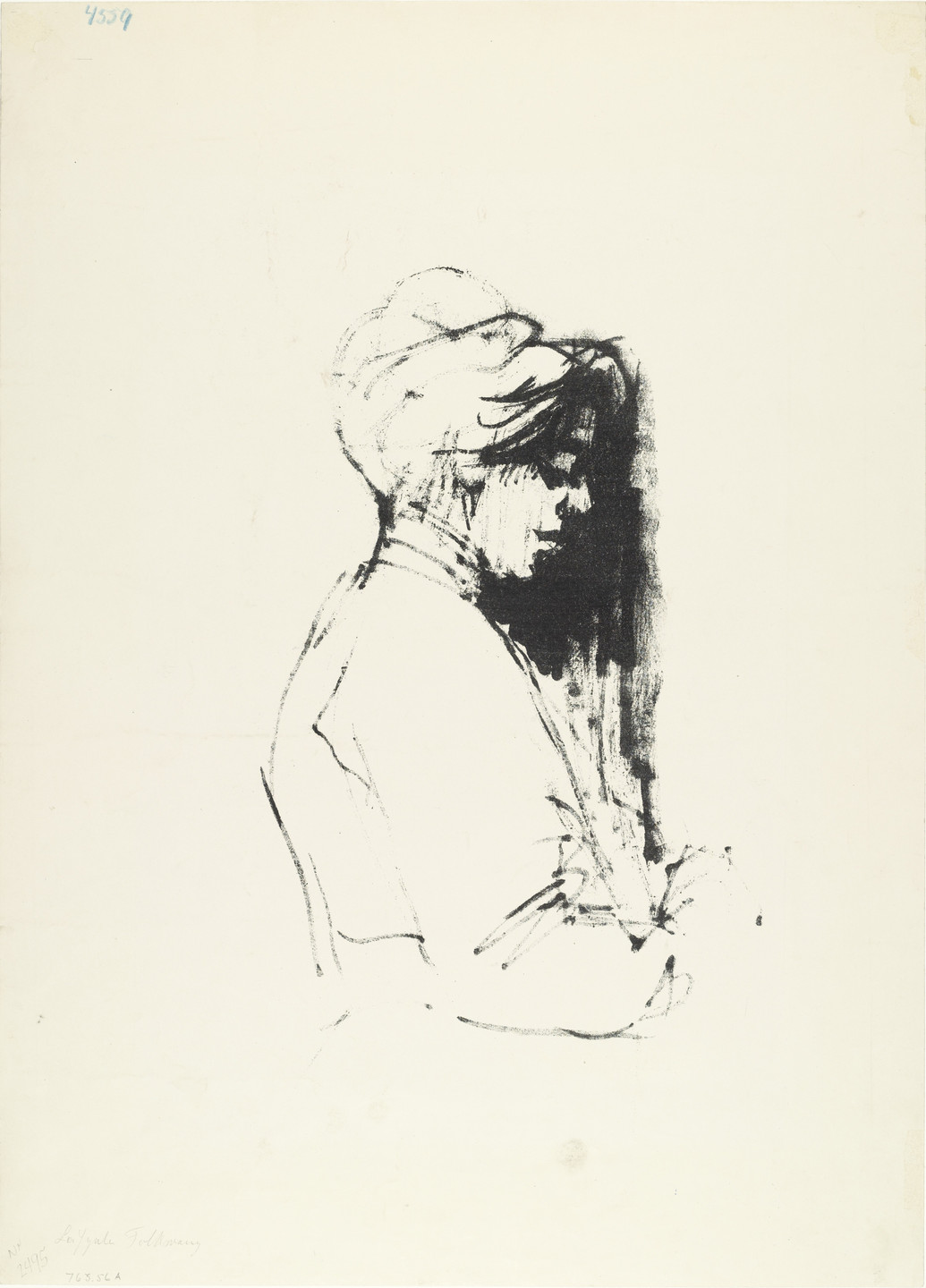 Emil Nolde. Alice (recto); Nude with Thick Hair (Akt mit starkem Haar). 1907 (recto); 1908 (verso)