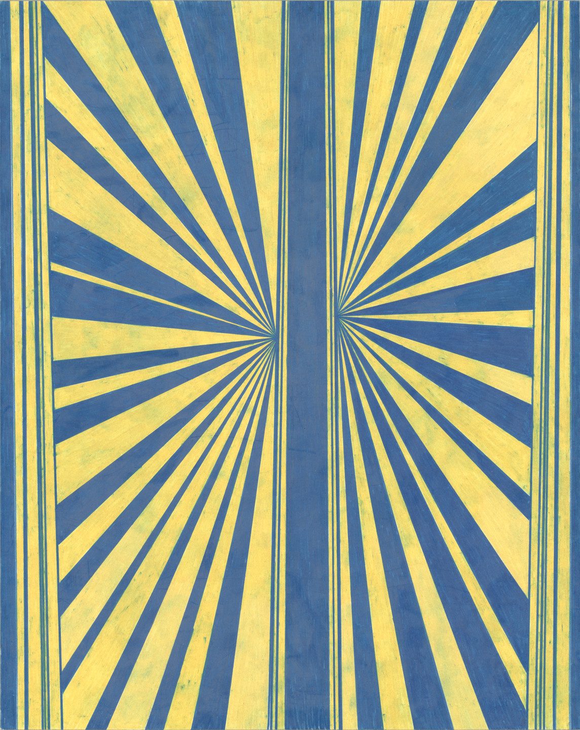 Mark Grotjahn. Untitled (Blue and Yellowish Cream Butterfly 76). 2002
