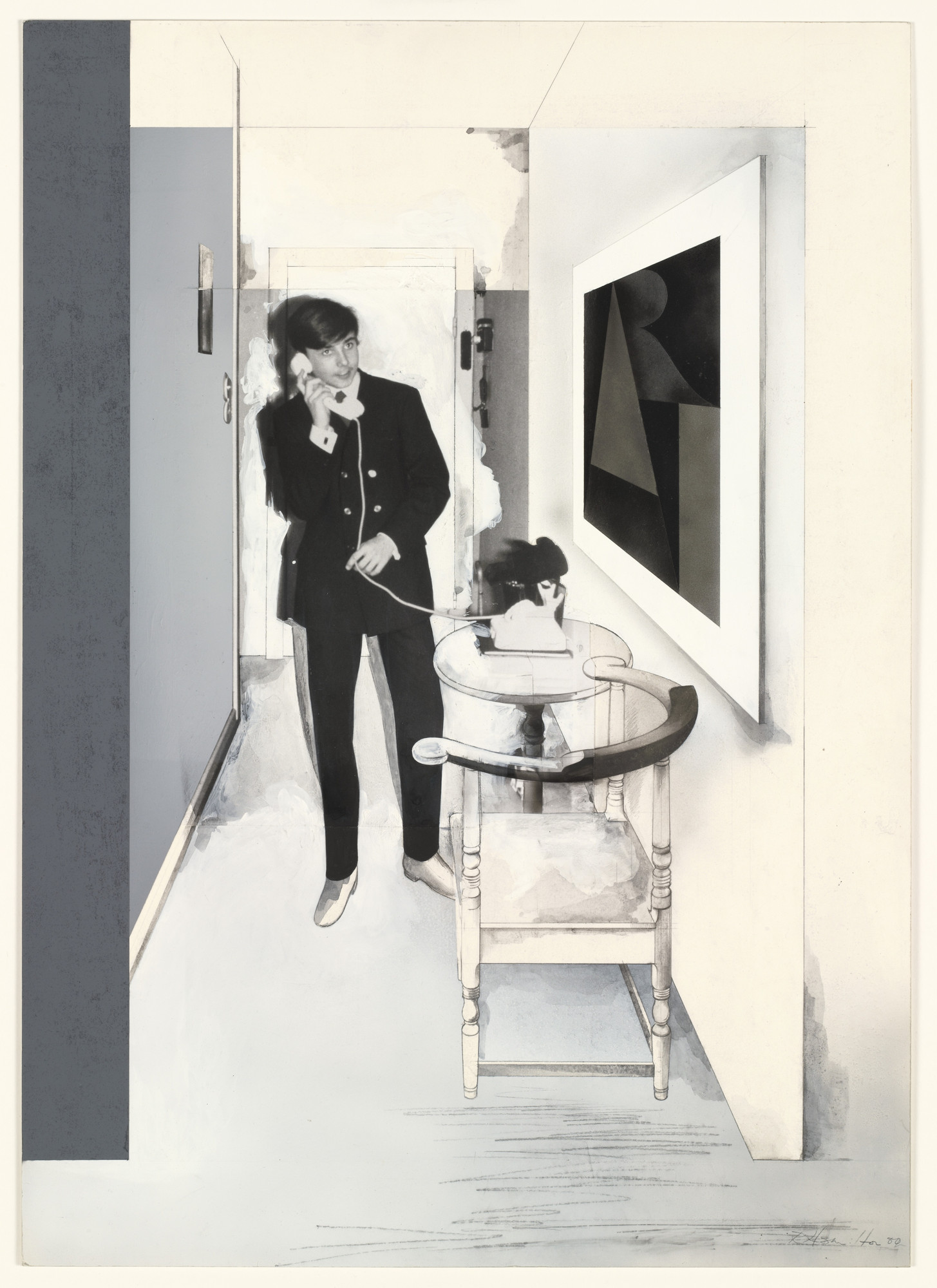Richard Hamilton. Study for A dedicated follower of fashion. 1980