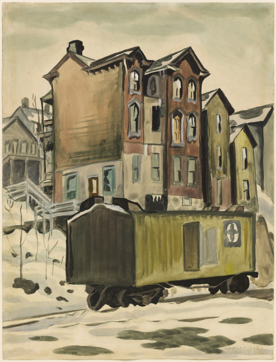Charles Burchfield. Pippin House, East Liverpool, Ohio. (1920)