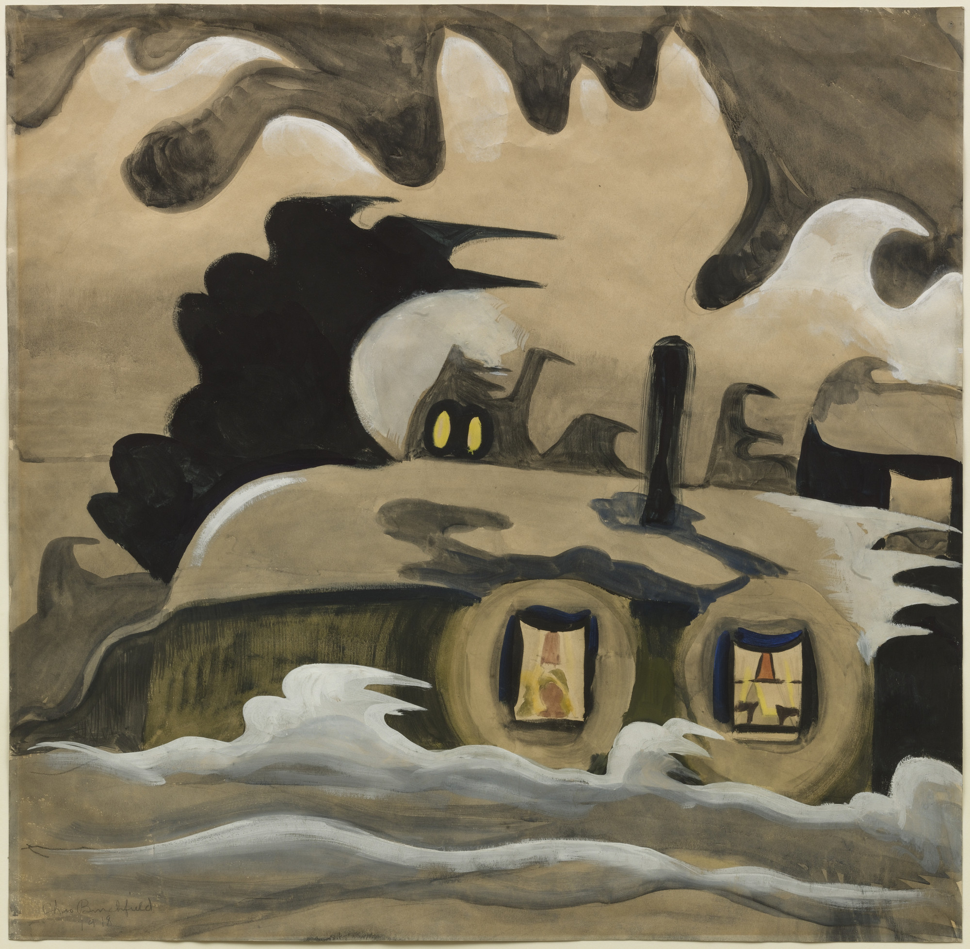 Charles Burchfield. The Night Wind. 1918