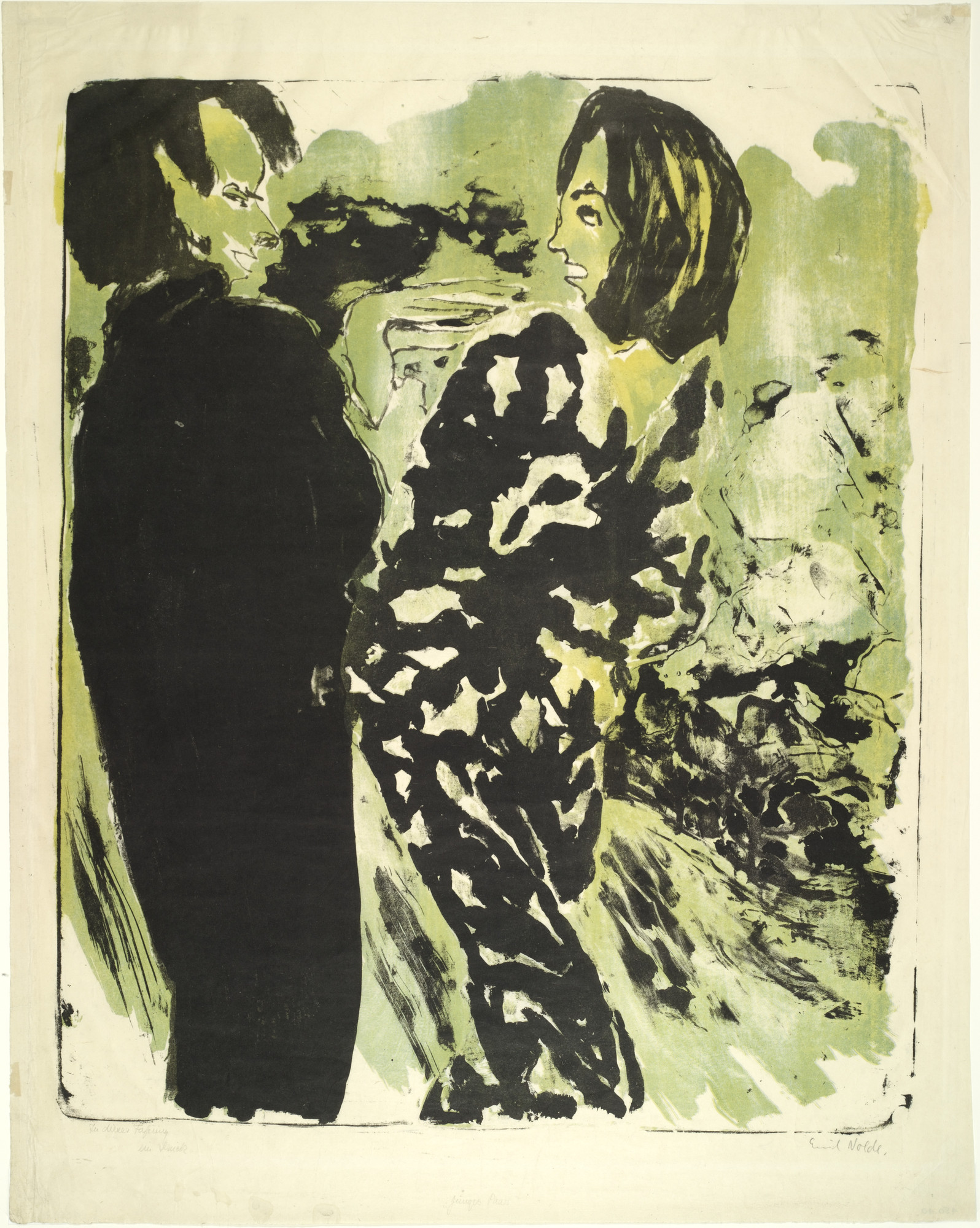 Emil Nolde. Young Couple (Junges Paar). (1913)
