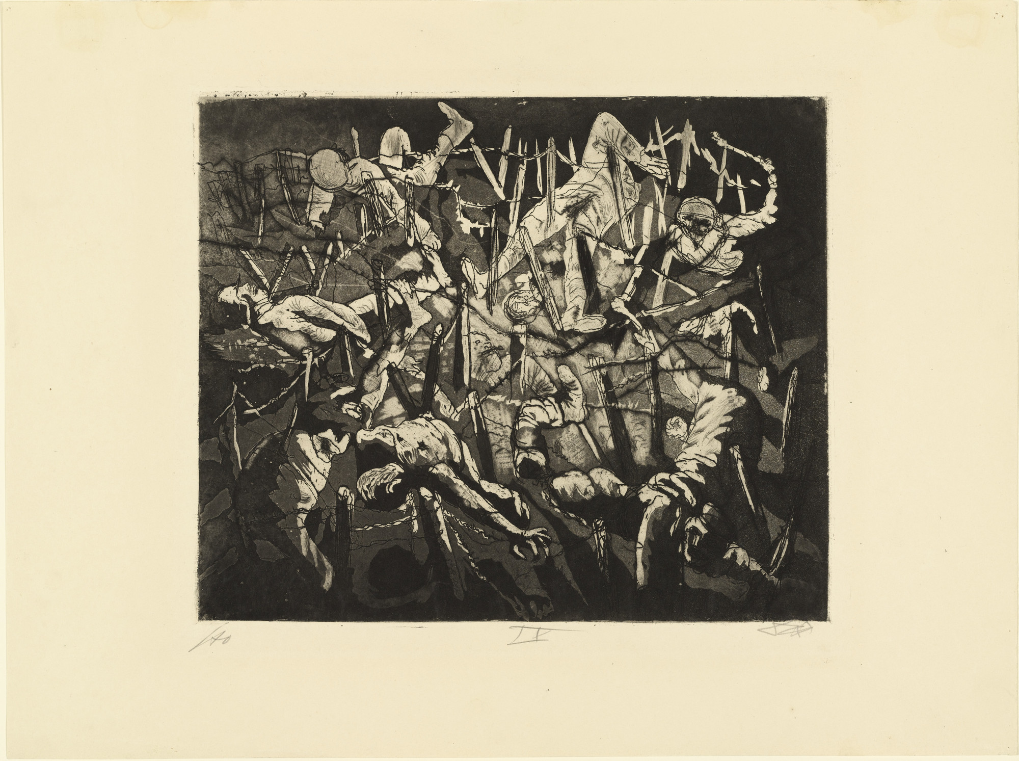 Otto Dix. Dance of Death 1917 (Dead Man Heights) (Totentanz anno 17 [Höhe Toter Mann]) from The War (Der Krieg). 1924