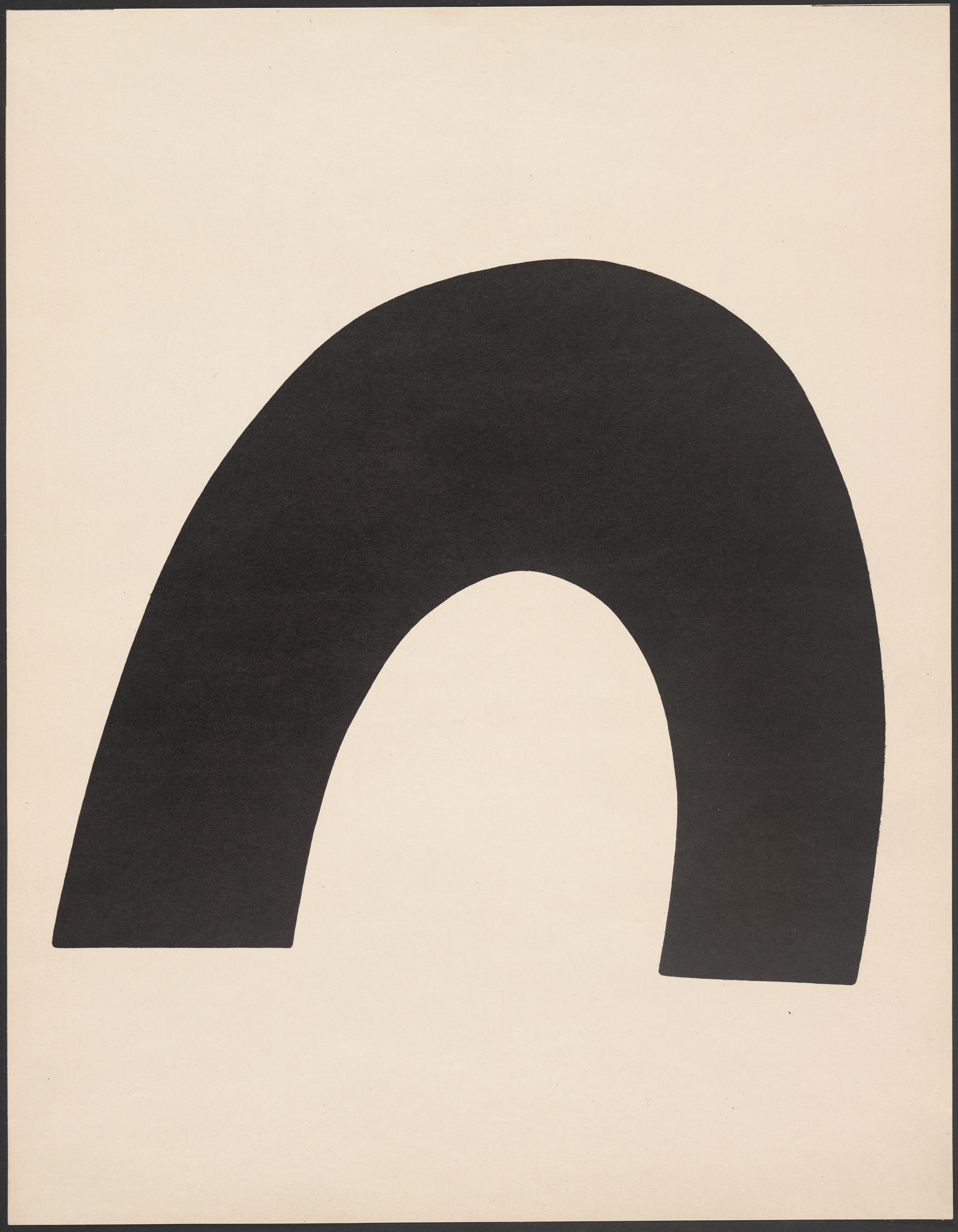 Jean (Hans) Arp. The Sea (Das Meer) from Merz 5. 7 Arpaden by Hans Arp. Arp Portfolio. Second Portfolio of the Merz Publisher (Merz 5. 7 Arpaden von Hans Arp. Arp Mappe. Zweite Mappe des Merzverlages). 1923