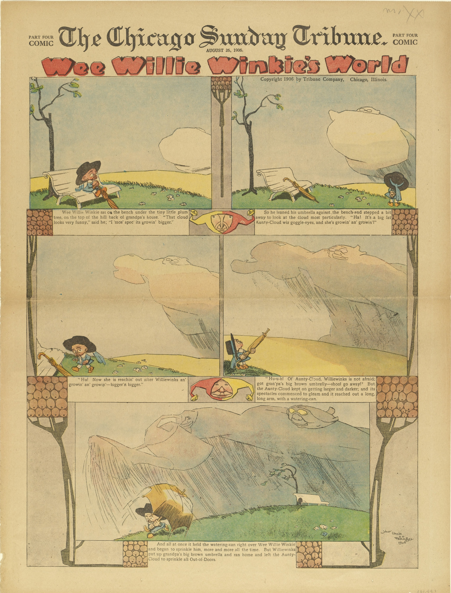 Lyonel Feininger. Wee Willie Winkie's World from The Chicago Sunday Tribune. August 26, 1906