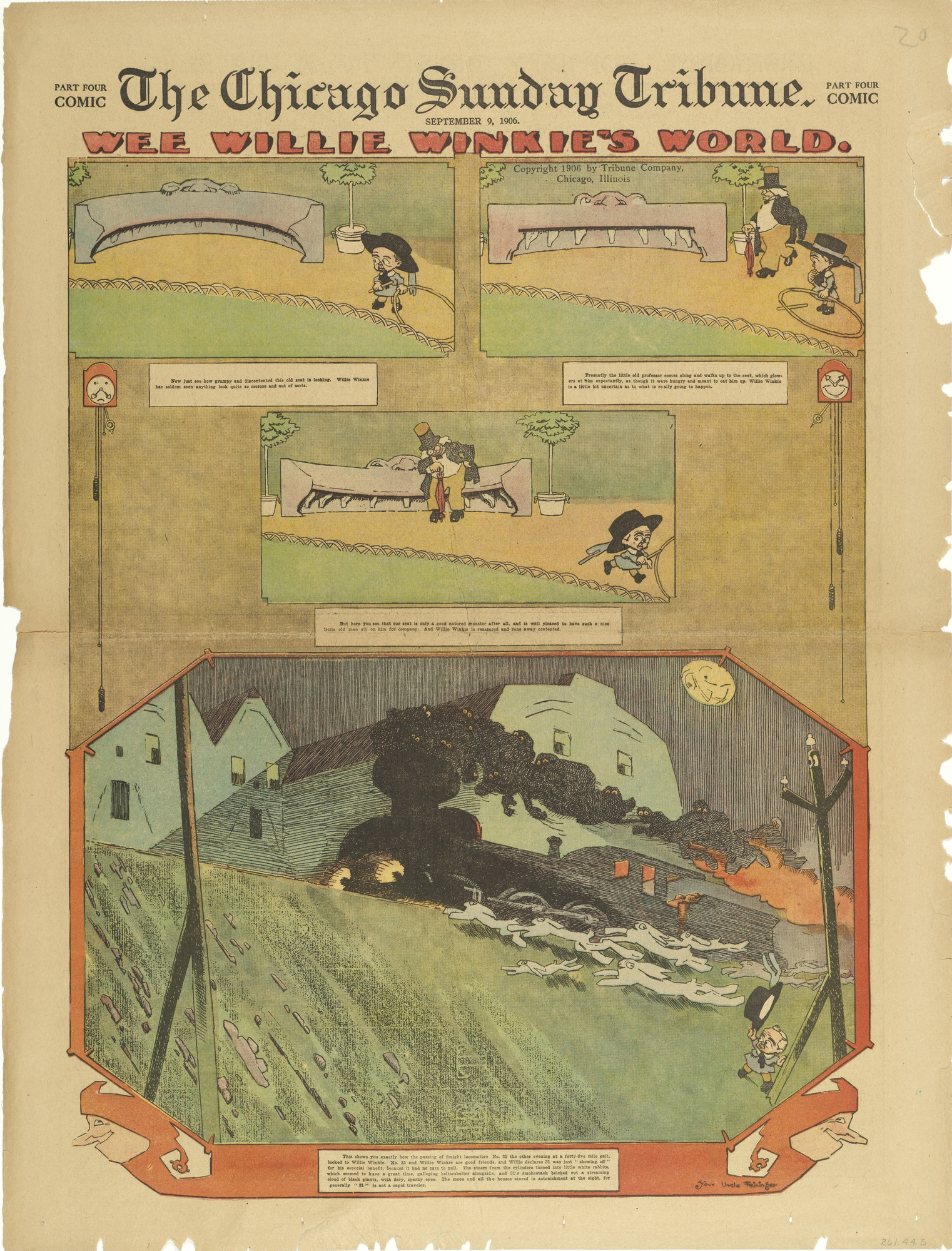 Lyonel Feininger. Wee Willie Winkie's World fromThe Chicago Sunday Tribune. September 9, 1906