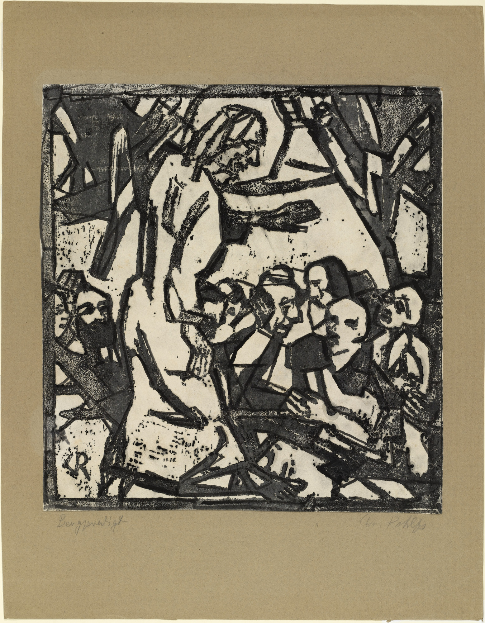Christian Rohlfs. Sermon on the Mount (Bergpredigt). (1916)