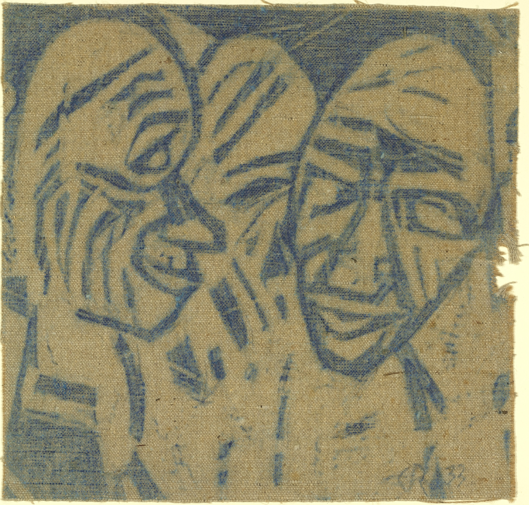 Christian Rohlfs. Large Heads (2 Heads I) [Grosse Köpfe (2 Köpfe I)]. (1921), dated 1933