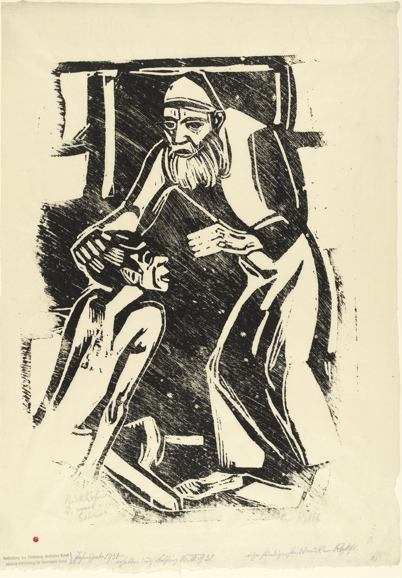 Christian Rohlfs. Return of the Prodigal Son (Rückkehr des verlorenen Sohnes) from the annual portfolio of the Alliance for the Advancement of German Art (Verbindung zur Förderung deutscher Kunst). (1916, published 1931)
