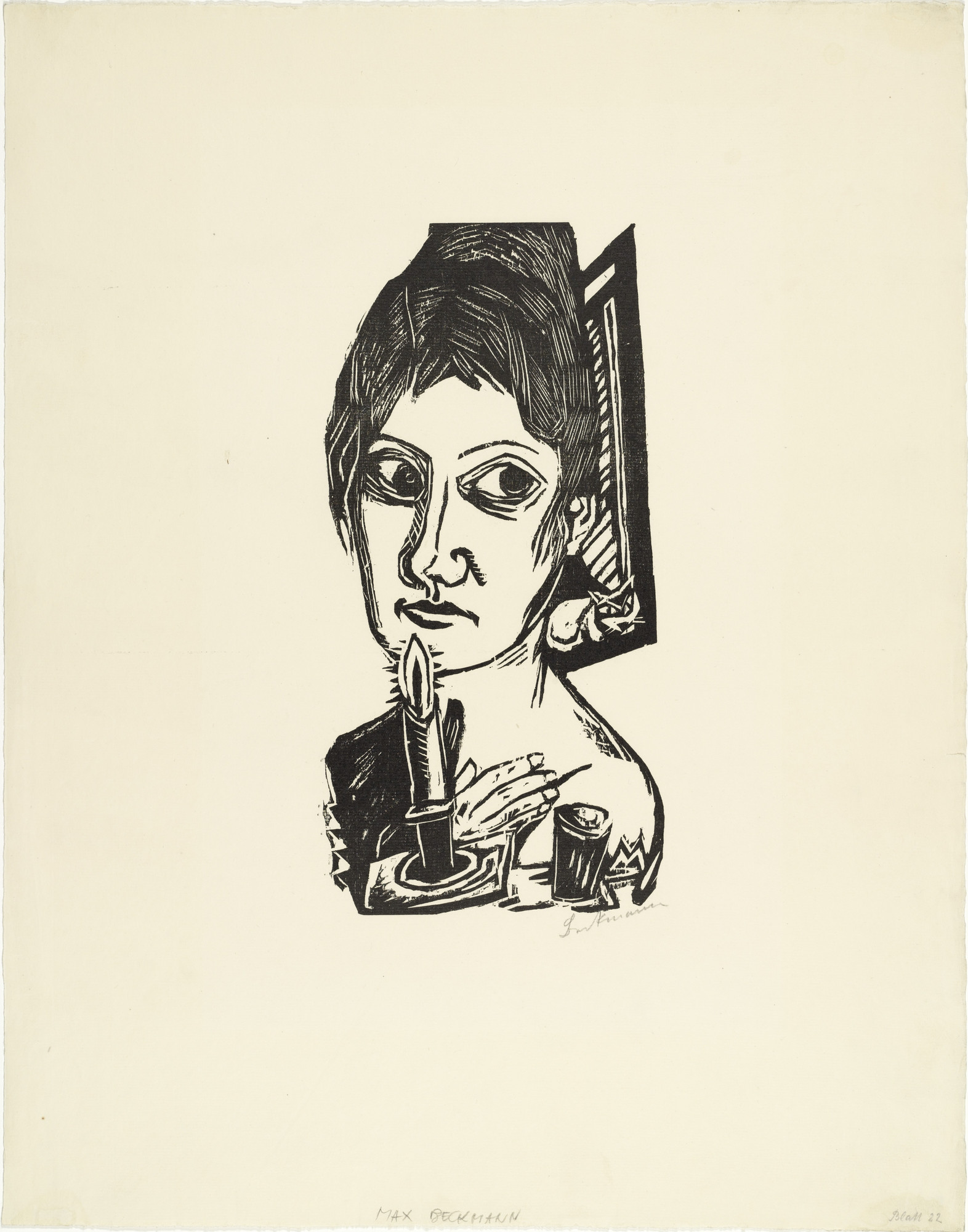 Max Beckmann. Woman with Candle (Frau mit Kerze). (1920)