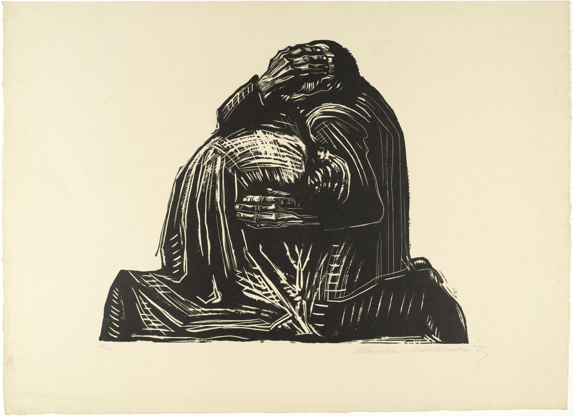 Käthe Kollwitz. The Parents (Die Eltern) from War (Krieg). 1921–22, published 1923