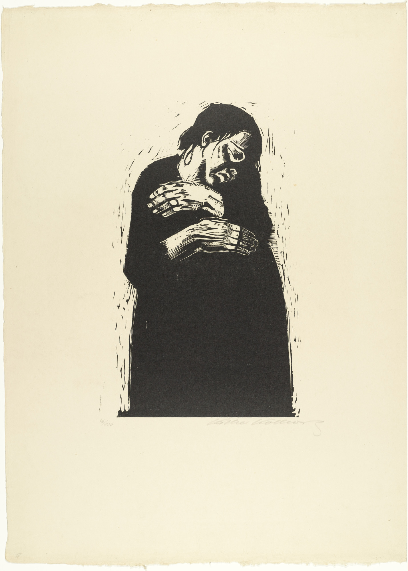 Käthe Kollwitz. The Widow I (Die Witwe I) from War (Krieg). 1921–22, published 1923