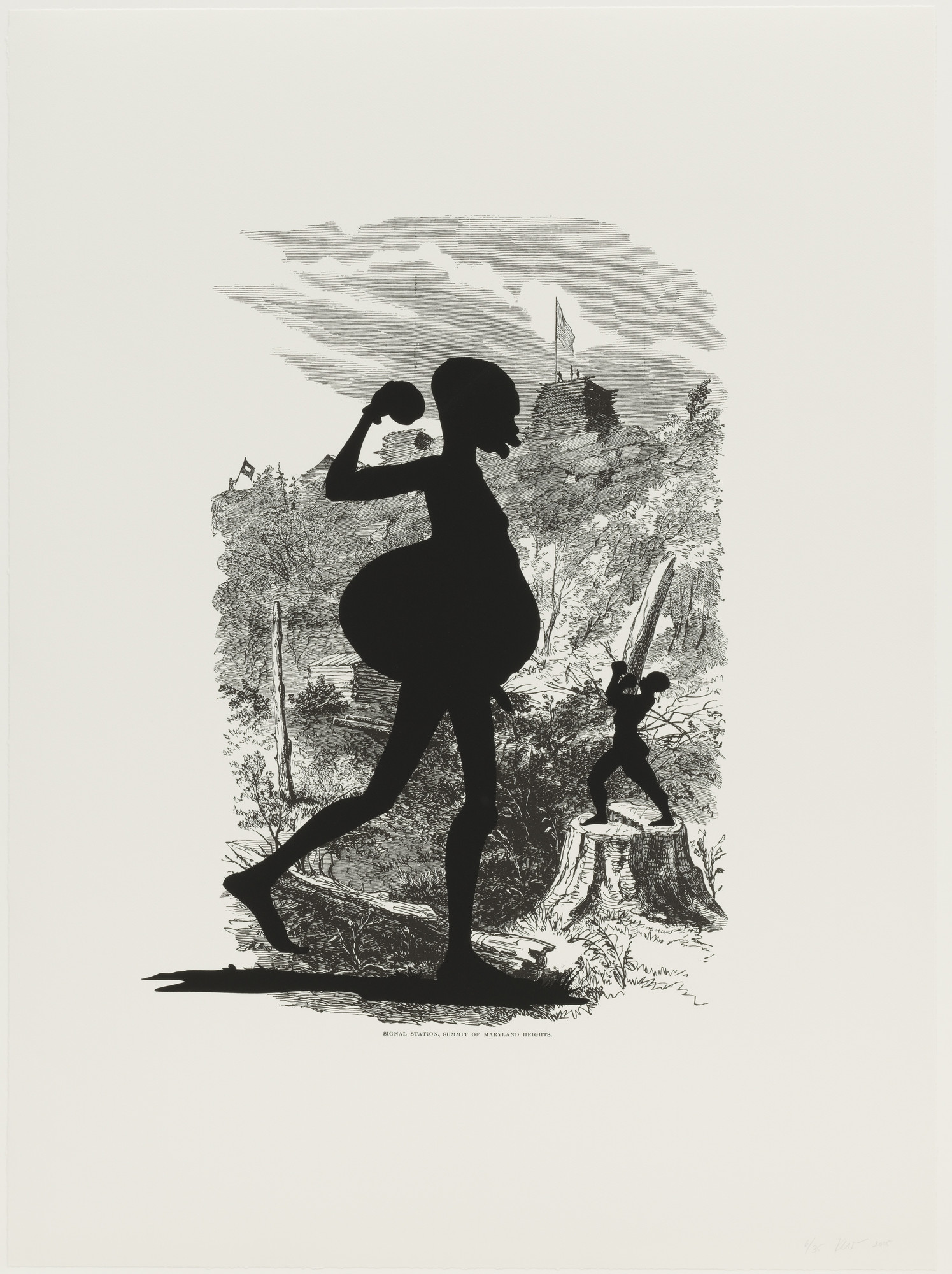 Kara Walker. Signal Station, Summit of Maryland Heights from Harper's Pictorial History of the Civil War (Annotated). 2005