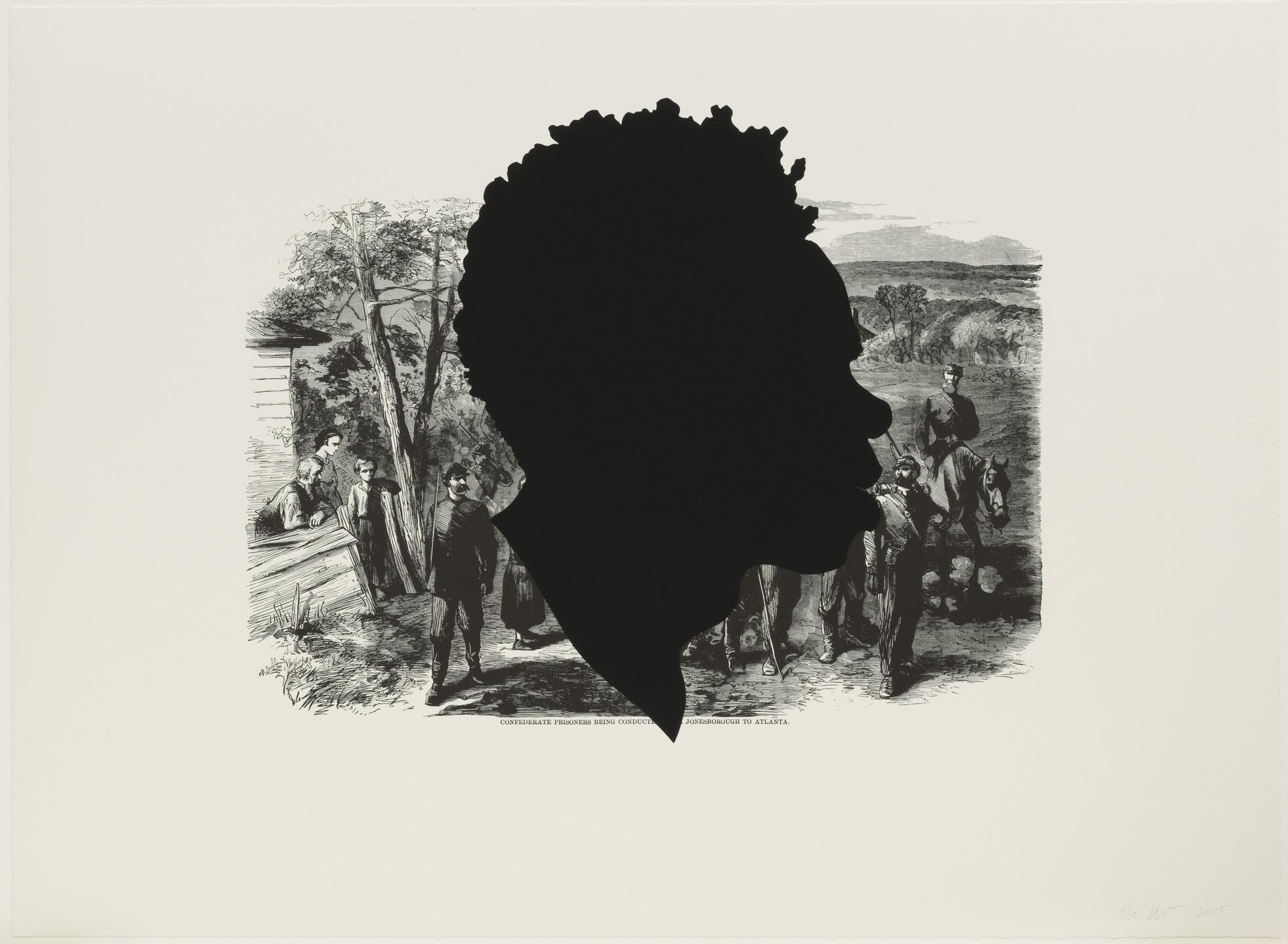 Kara Walker. Confederate Prisoners Being Conducted from Jonesborough to Atlanta from Harper's Pictorial History of the Civil War (Annotated). 2005