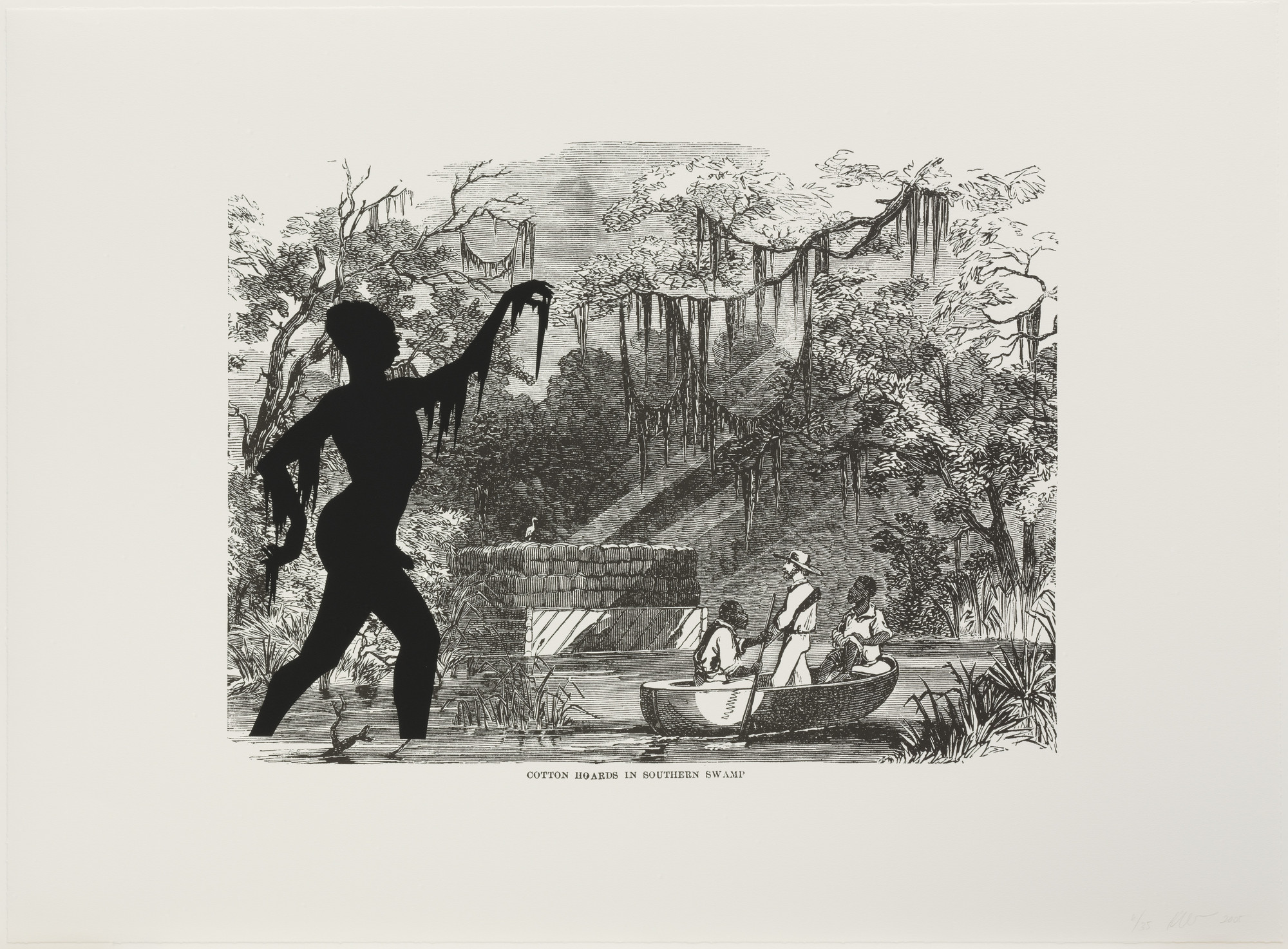 Kara Walker. Cotton Hoards in Southern Swamp from Harper's Pictorial History of the Civil War (Annotated). 2005