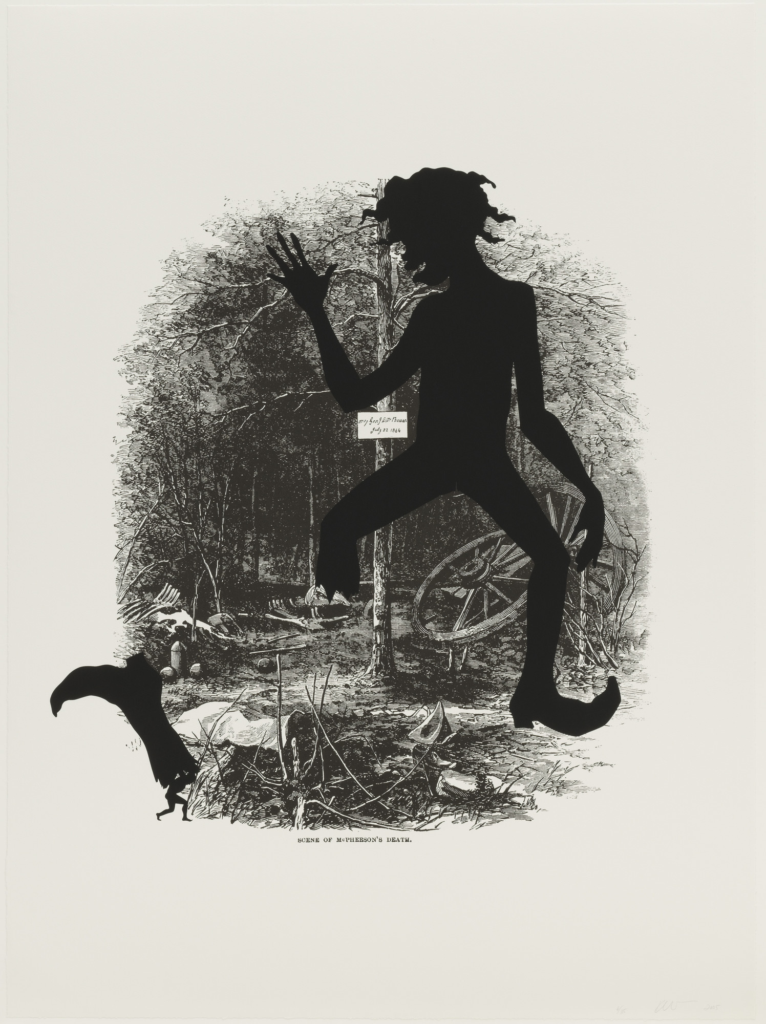 Kara Walker. Scene of McPherson's Death from Harper's Pictorial History of the Civil War (Annotated). 2005