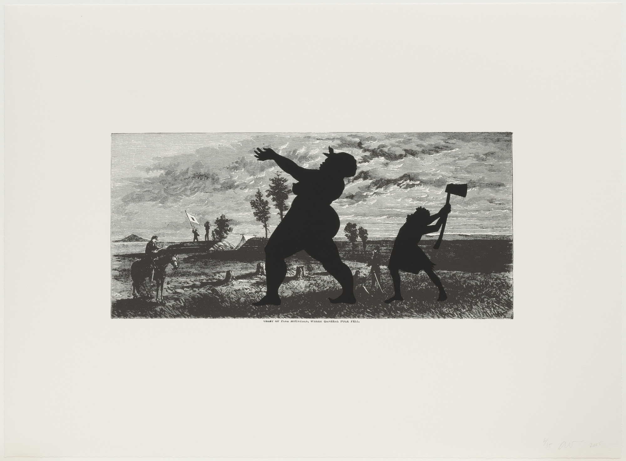 Kara Walker. Crest of Pine Mountain, Where General Polk Fell from Harper's Pictorial History of the Civil War (Annotated). 2005