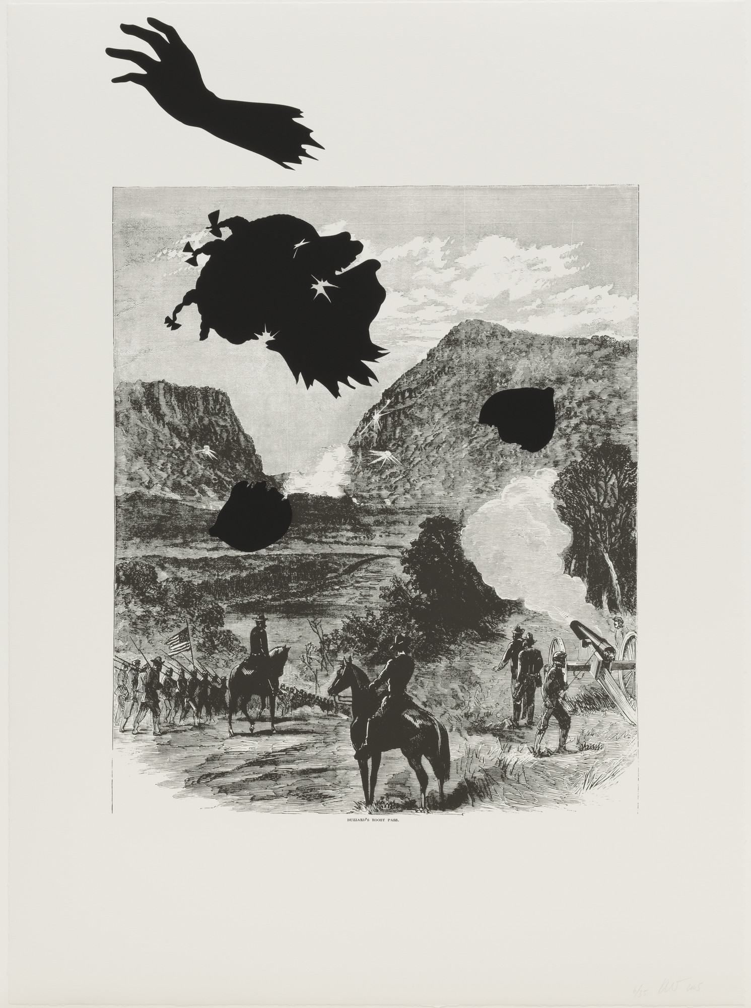 Kara Walker. Buzzard's Roost Pass from Harper's Pictorial History of the Civil War (Annotated). 2005