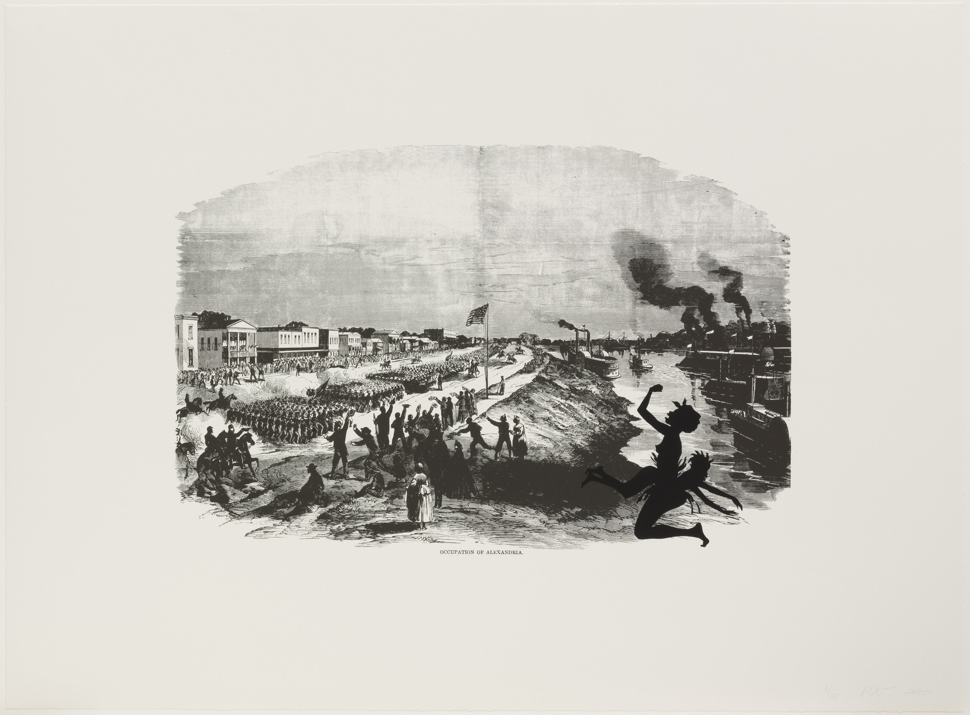 Kara Walker. Occupation of Alexandria from Harper's Pictorial History of the Civil War (Annotated). 2005