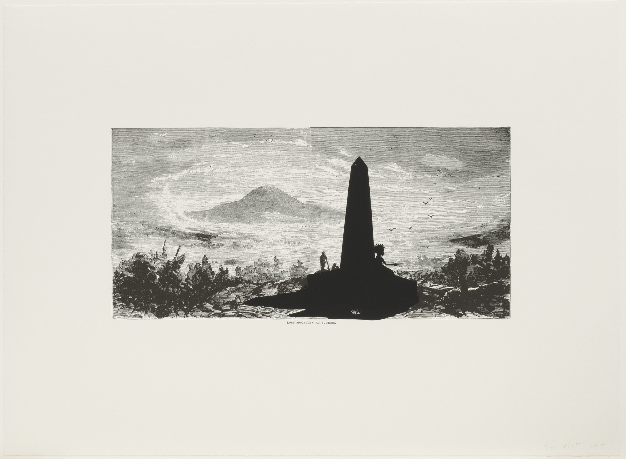 Kara Walker. Lost Mountain at Sunrise from Harper's Pictorial History of the Civil War (Annotated). 2005