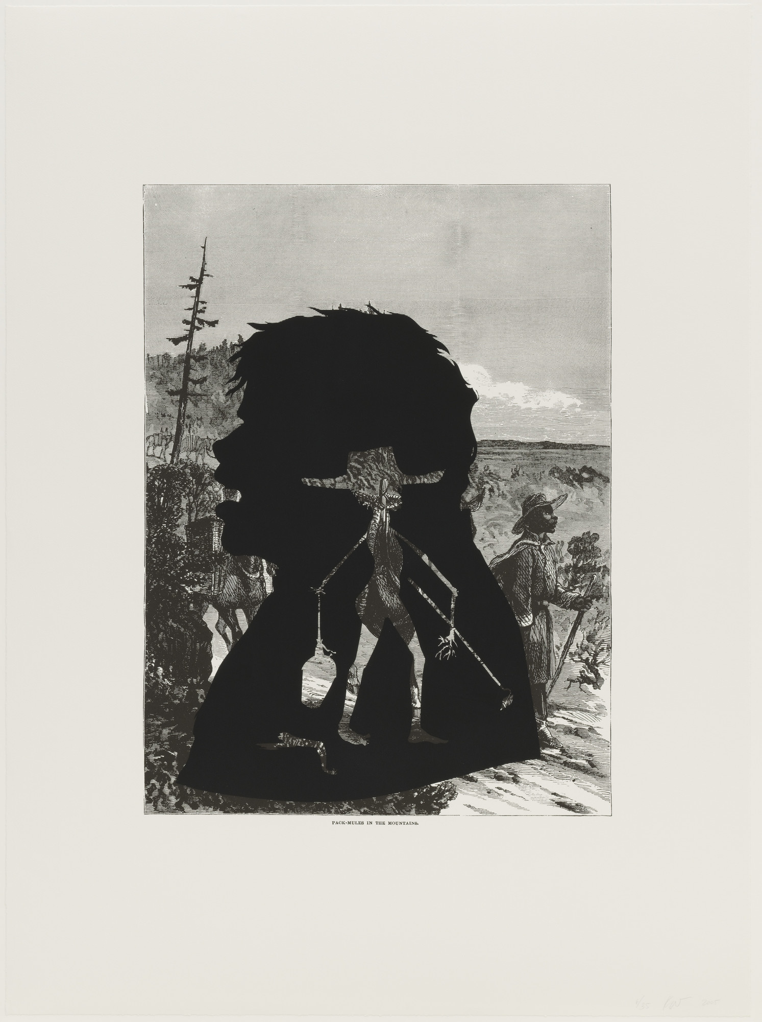 Kara Walker. Pack-Mules in the Mountains from Harper's Pictorial History of the Civil War (Annotated). 2005