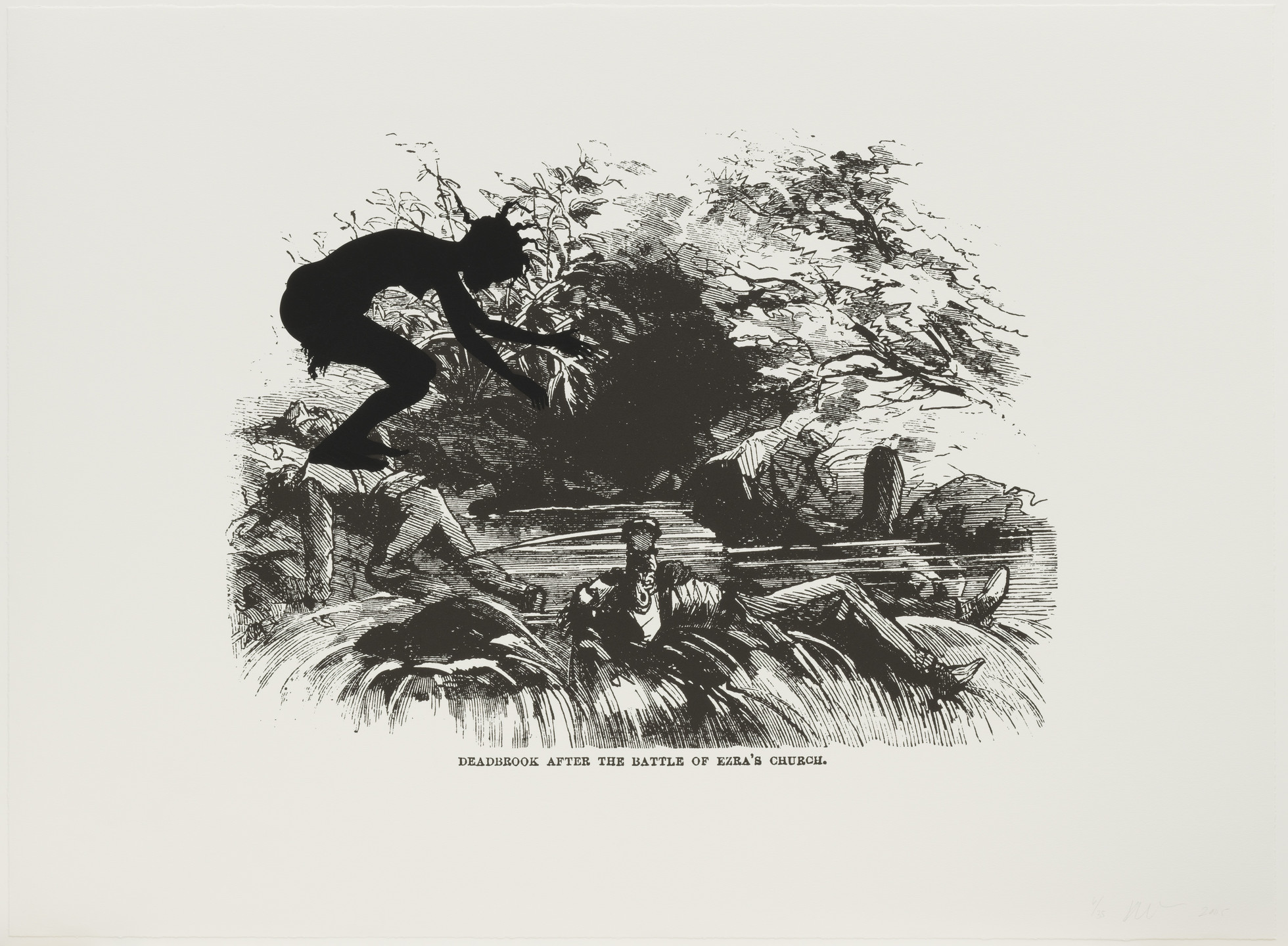 Kara Walker. Deadbrook After the Battle of Ezra's Church from Harper's Pictorial History of the Civil War (Annotated). 2005