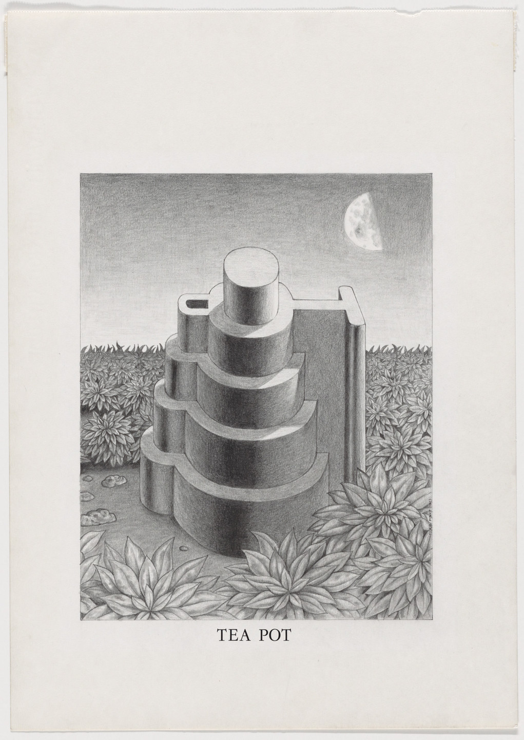 Ettore Sottsass. Study for Tea Pot, project (Perspective). 1973