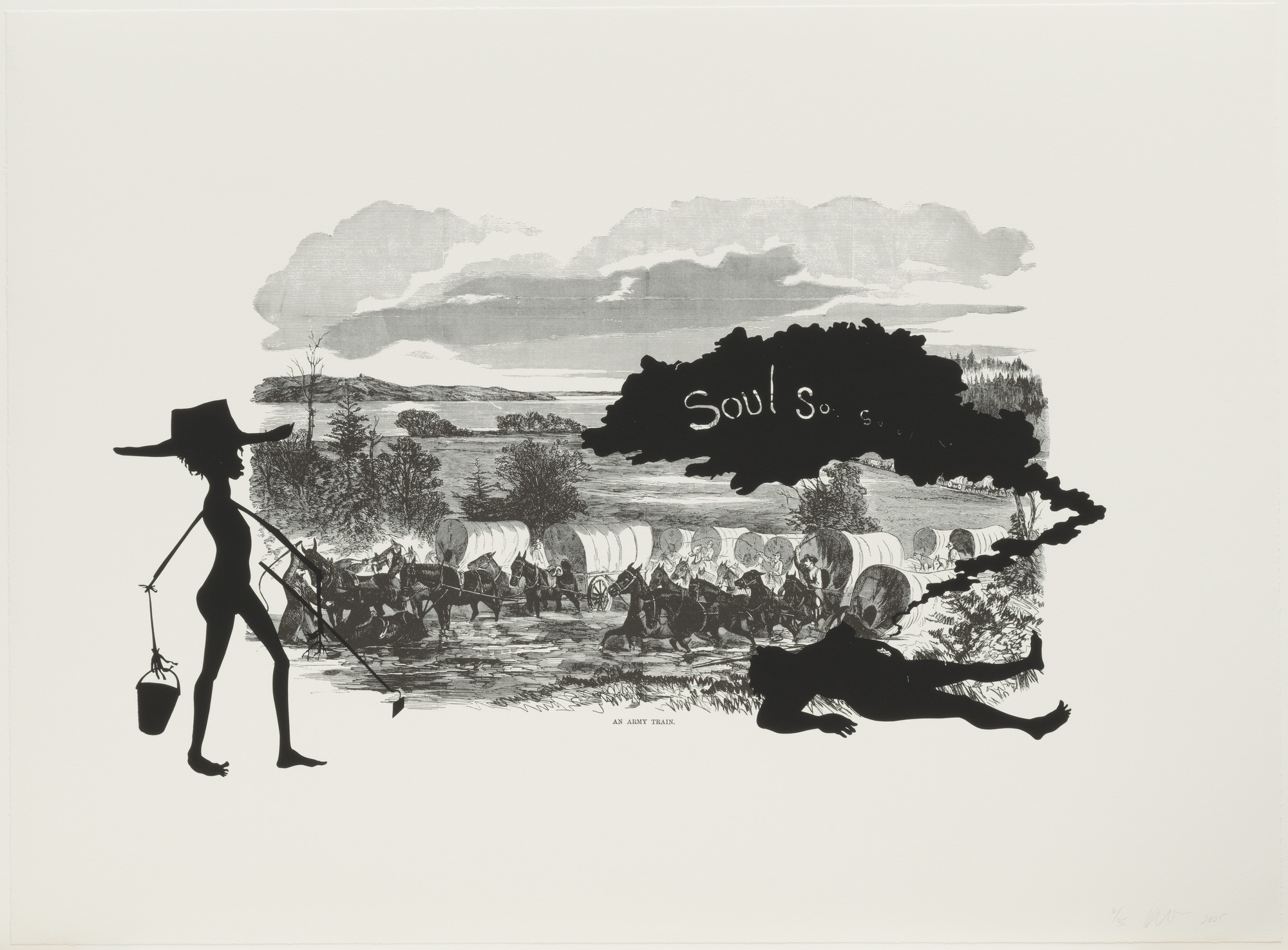 Kara Walker. An Army Train from Harper's Pictorial History of the Civil War (Annotated). 2005