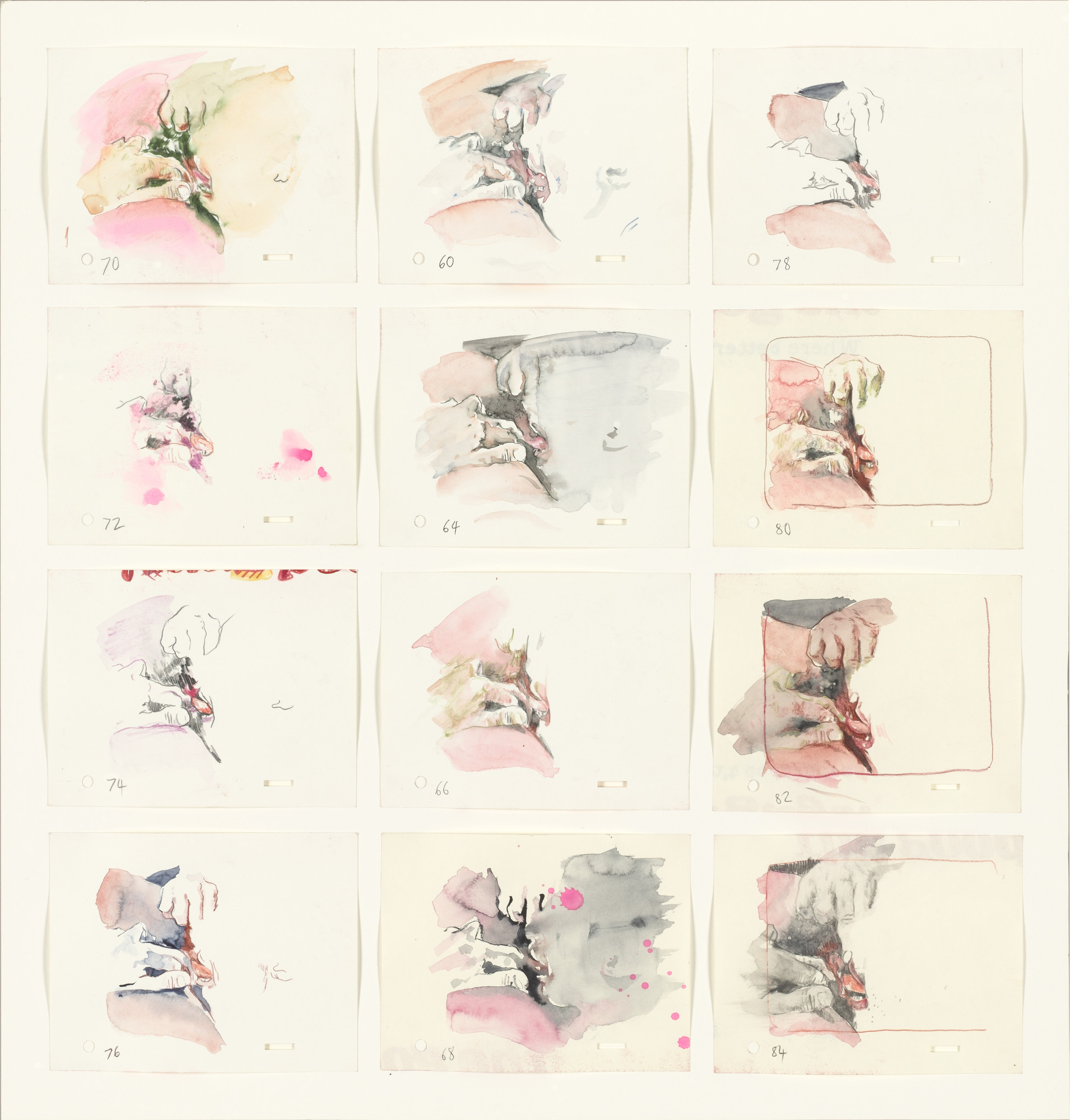 Cecily Brown. Four Letter Heaven (Animation Cells). (1995)