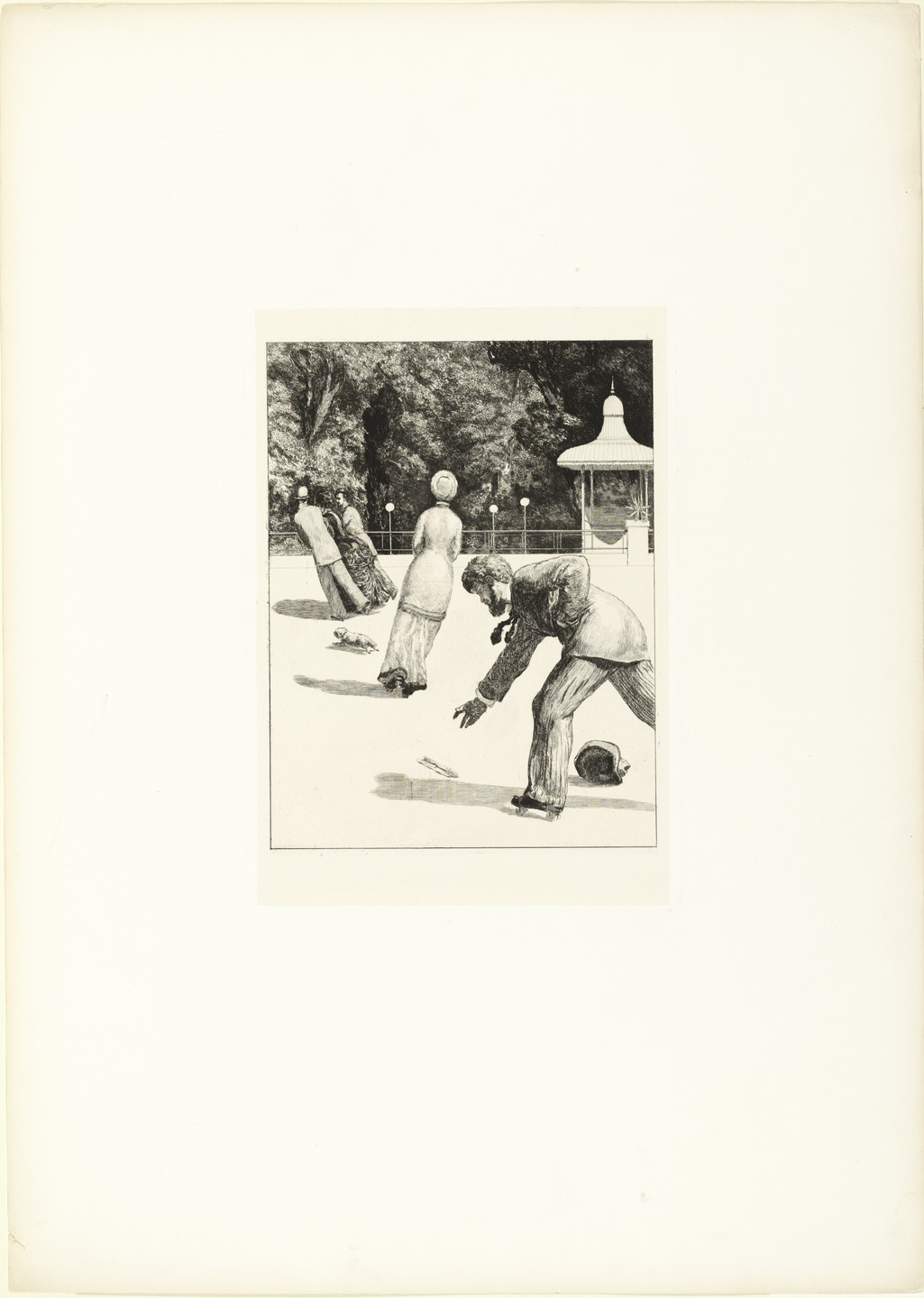 Max Klinger. Action (Handlung) (plate II) from A Glove, Opus VI (Ein Handschuh, Opus VI). 1881 (print executed 1880)
