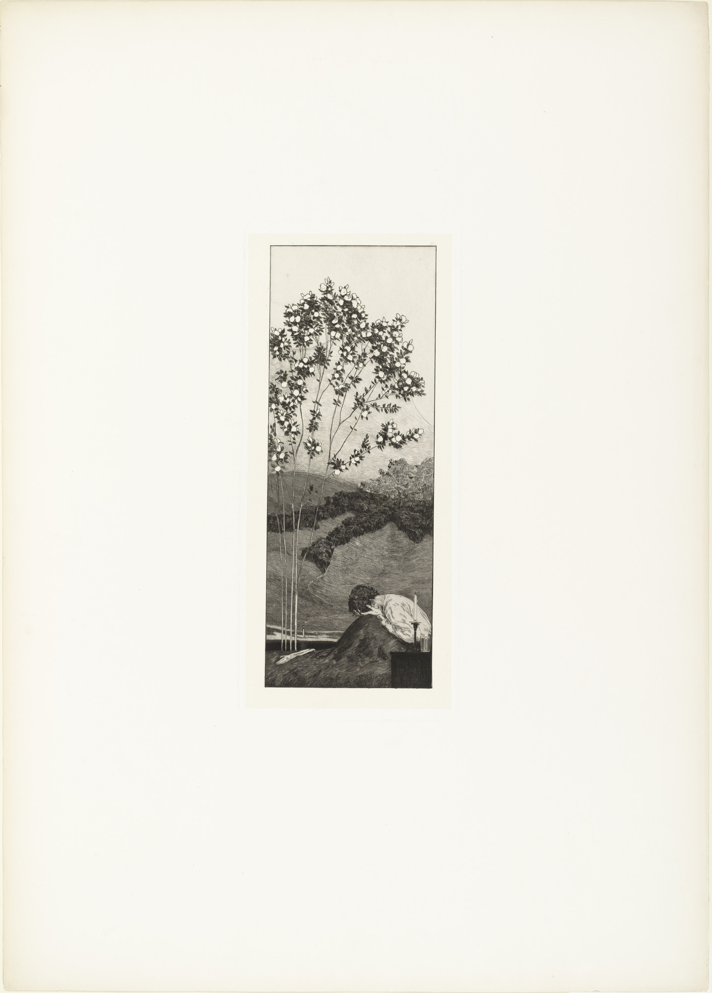 Max Klinger. Yearnings (Wünsche) (plate III) from A Glove, Opus VI (Ein Handschuh, Opus VI). 1881 (print executed 1880)