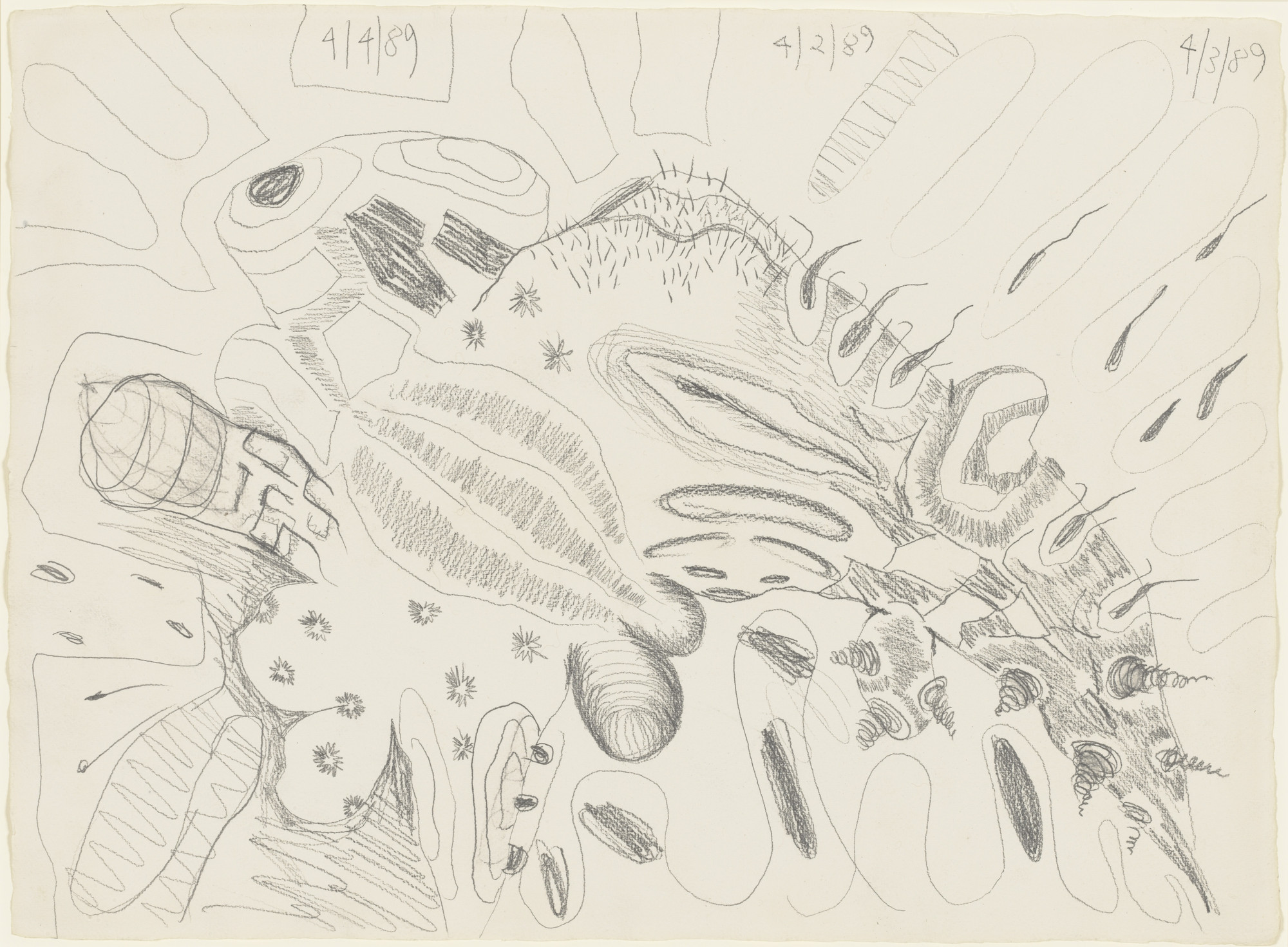 Carroll Dunham. Four Shapes. (1989)