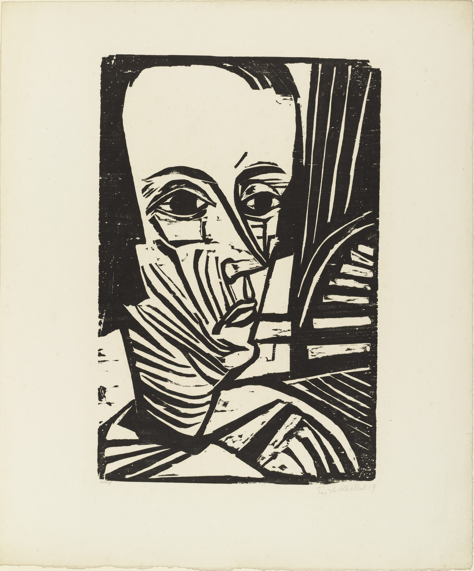 Erich Heckel. A.N. from the portfolio Eleven Woodcuts, 1912-1919 (Elf Holzschnitte, 1912-1919). 1919 (published 1921)