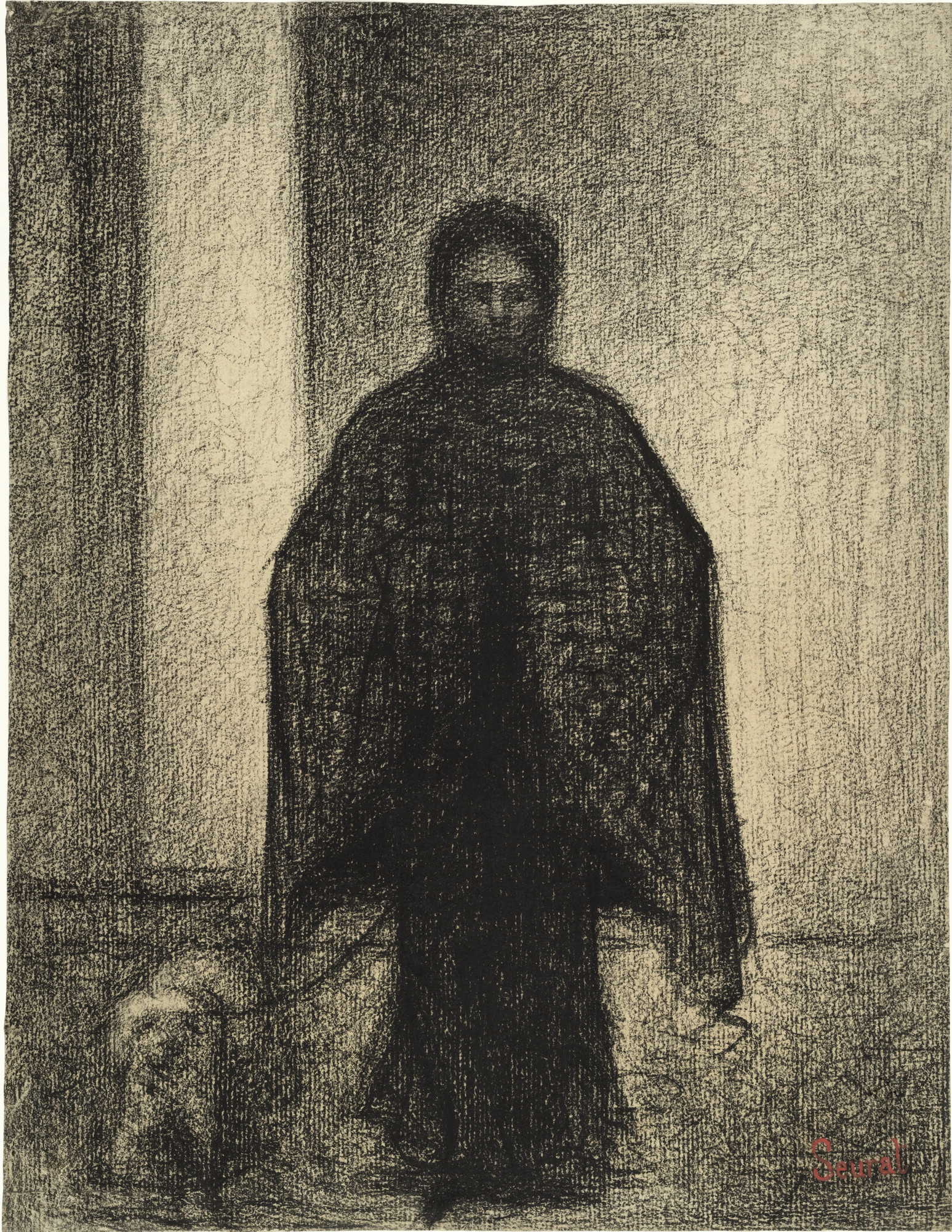 Georges-Pierre Seurat. Woman with a Dog (Femme avec chien). c. 1882–83