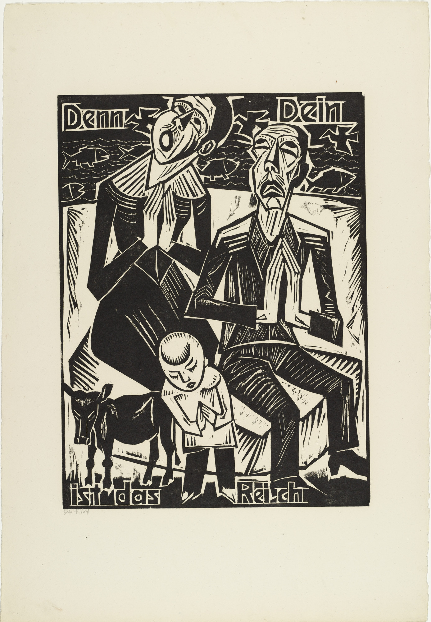 Max Pechstein. For Thine / is the kingdom (Denn Dein / ist das Reich) from The Lord's Prayer (Das Vater Unser). 1921