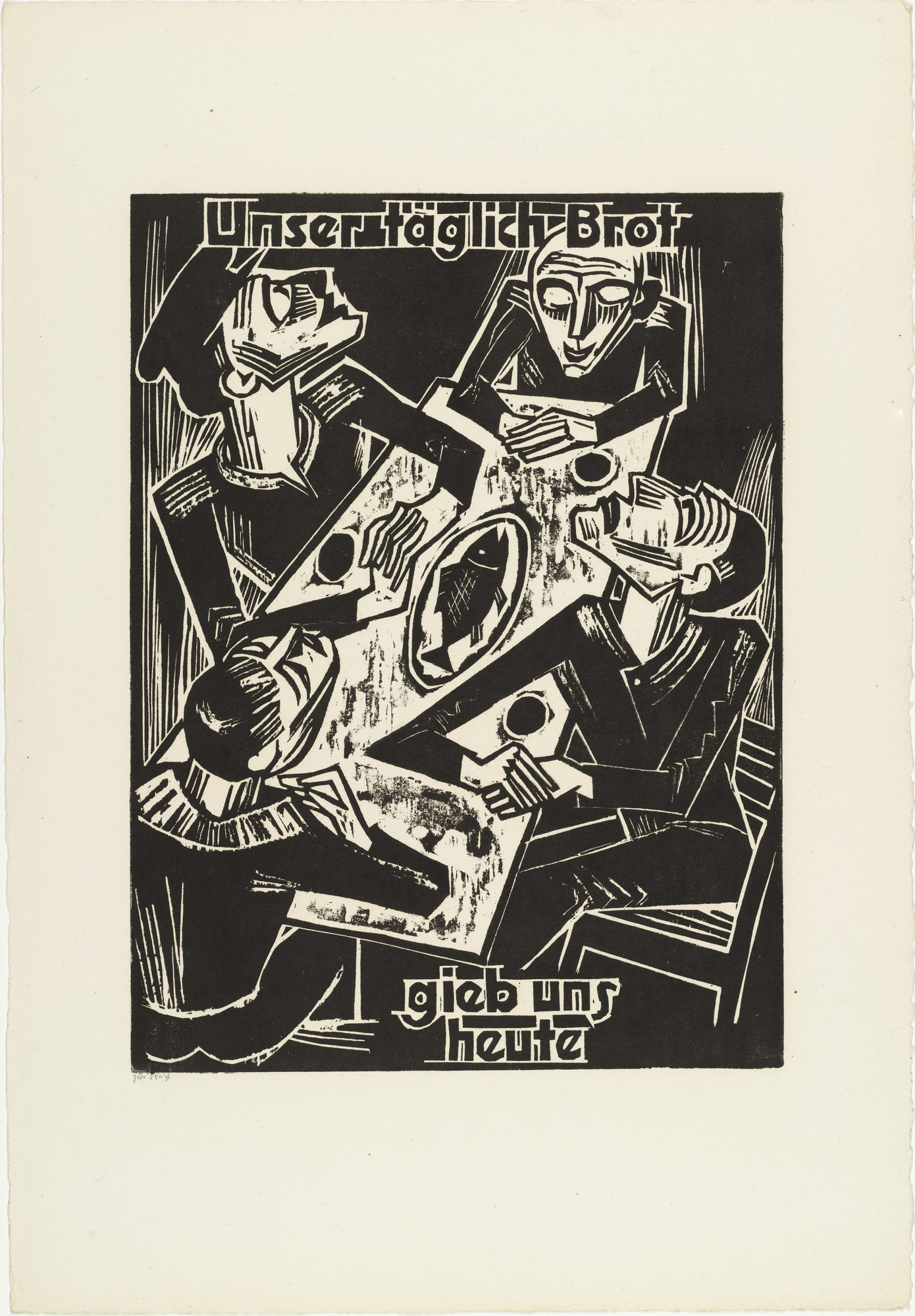 Max Pechstein. Give us this day / our daily bread (Unser täglich Brot / gieb uns heute) from The Lord's Prayer (Das Vater Unser). 1921