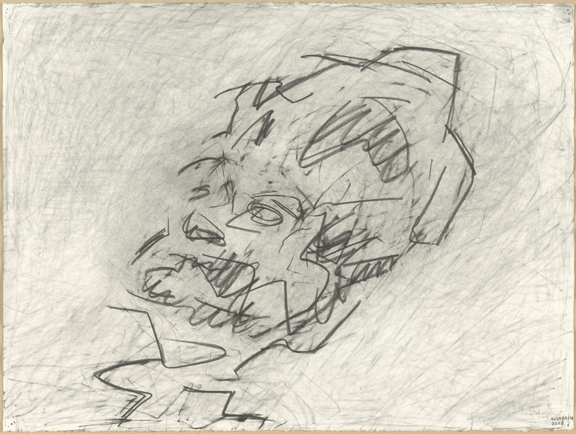 Frank Auerbach. Reclining Head of Julia. 2003